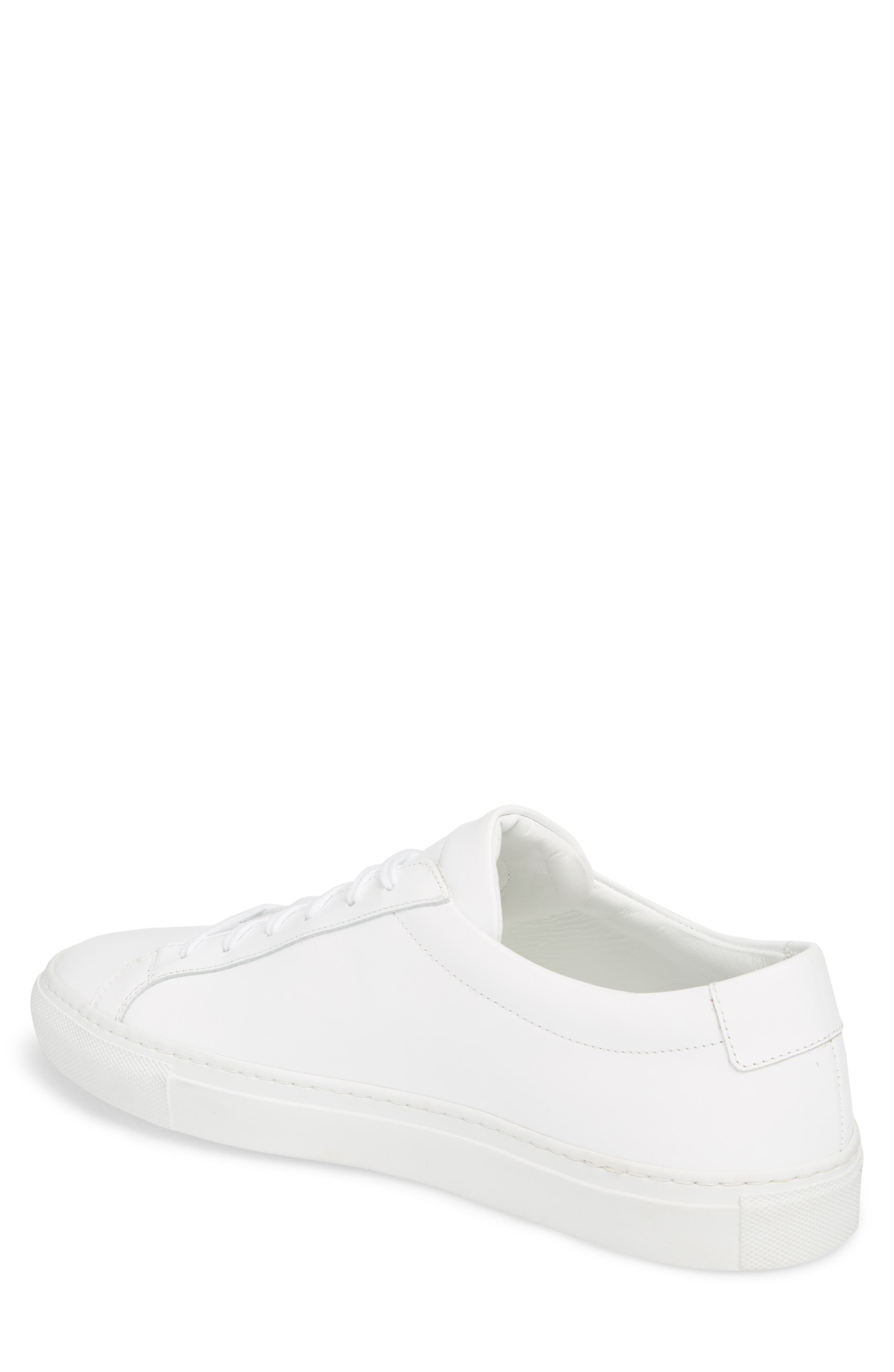 COMMON PROJECTS, Original Achilles Sneaker, Alternate thumbnail 2, color, WHITE