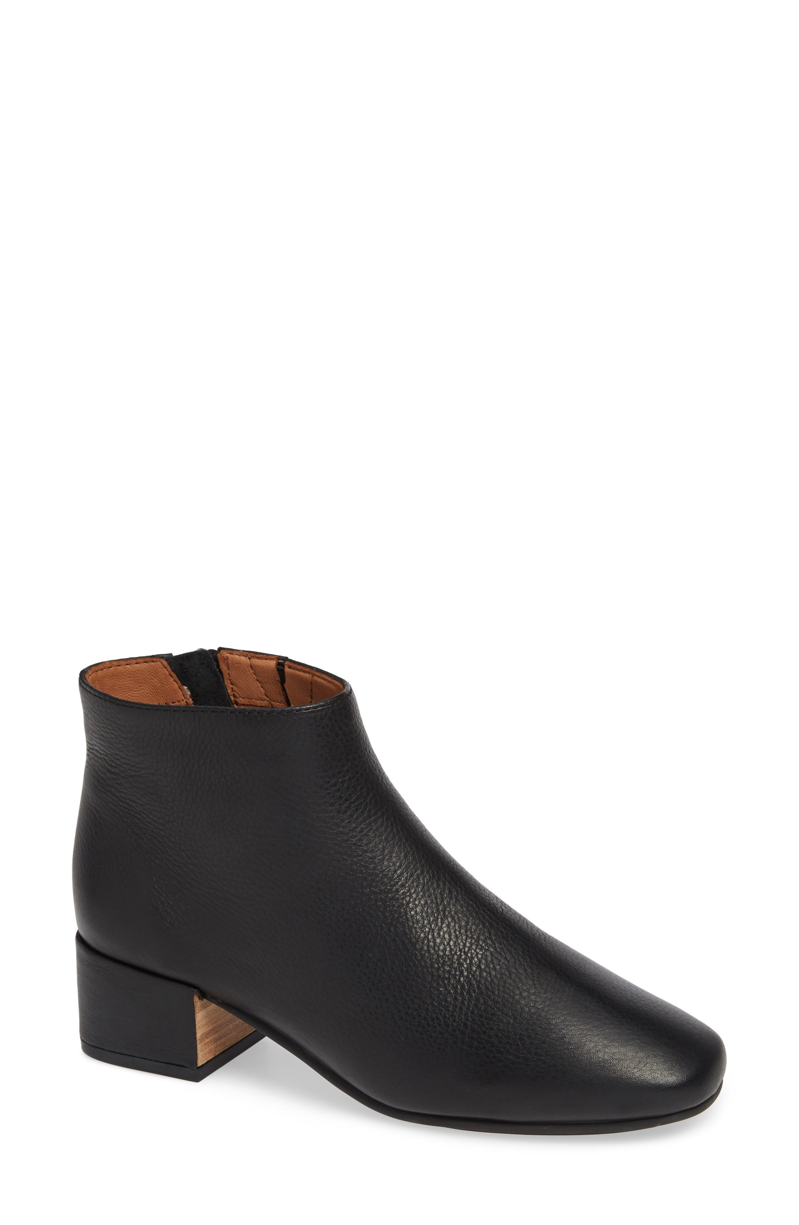 GENTLE SOULS BY KENNETH COLE, Ella Bootie, Main thumbnail 1, color, BLACK LEATHER