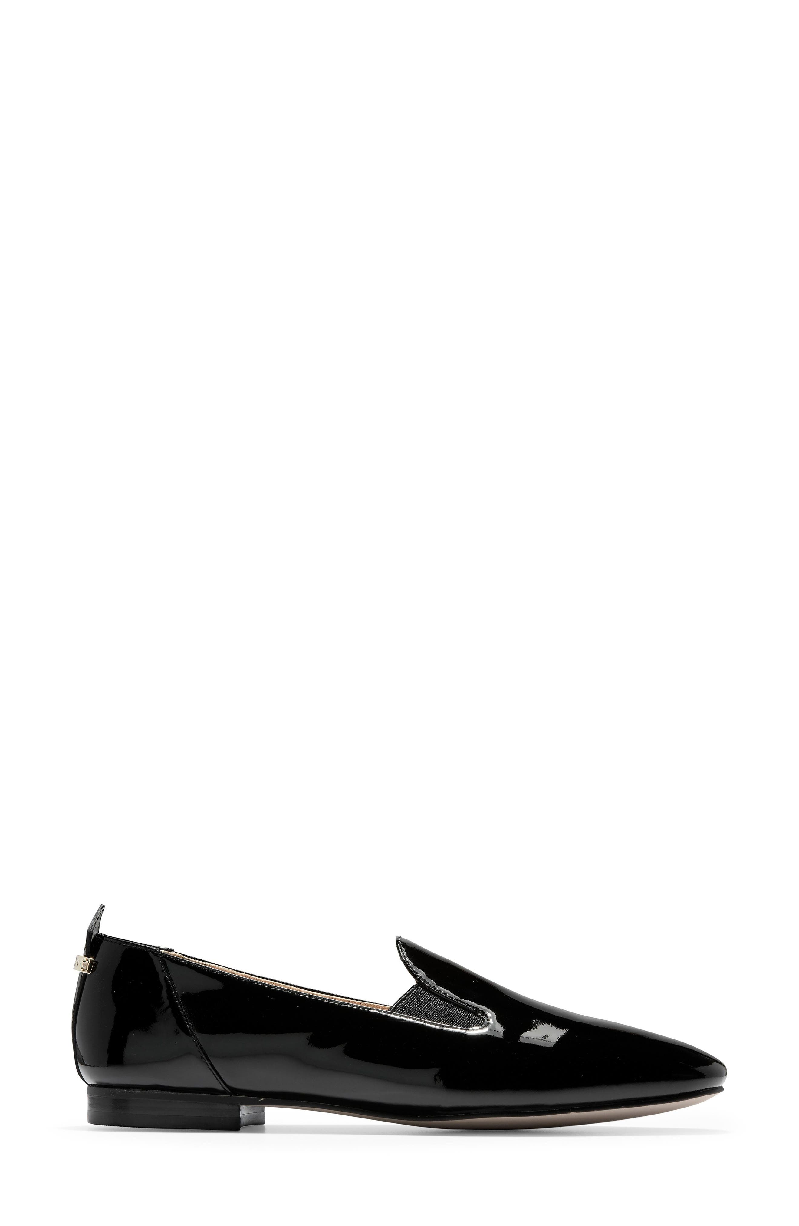 COLE HAAN, Portia Loafer, Alternate thumbnail 3, color, BLACK PATENT LEATHER