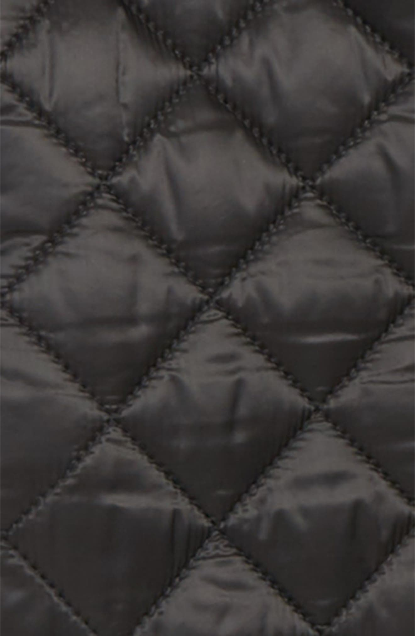 BURBERRY, Lyle Diamond Quilted Jacket, Alternate thumbnail 2, color, BLACK