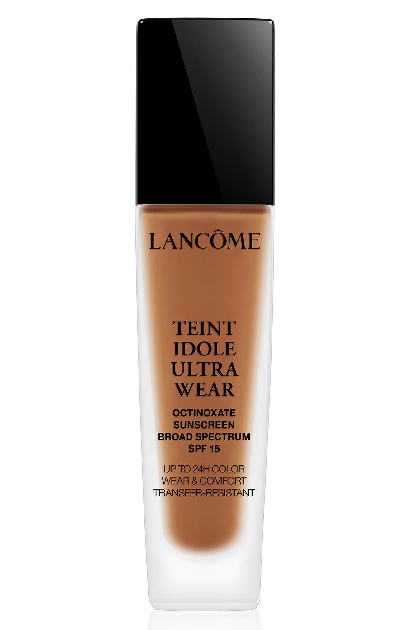 LANCÔME, Teint Idole Ultra Liquid 24H Longwear SPF 15 Foundation, Main thumbnail 1, color, 495 SUEDE W