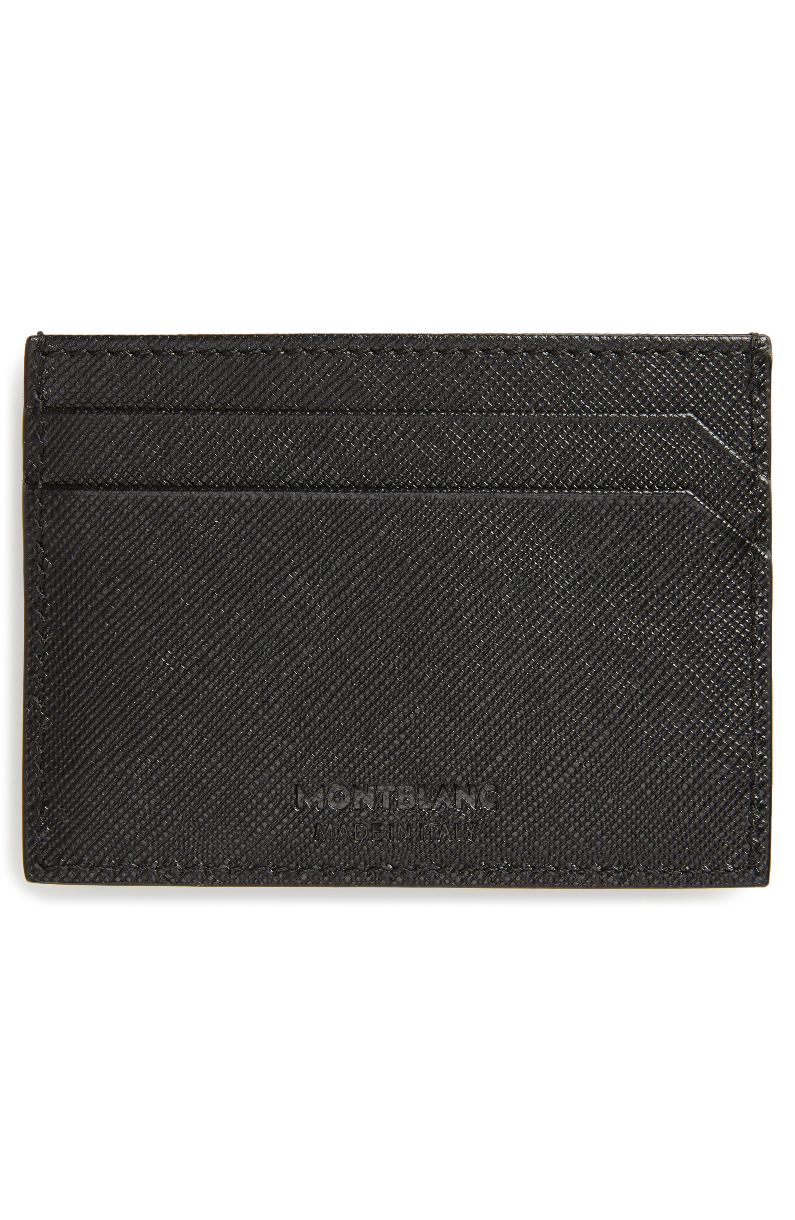 MONTBLANC, Sartorial Leather Card Case, Alternate thumbnail 2, color, 001