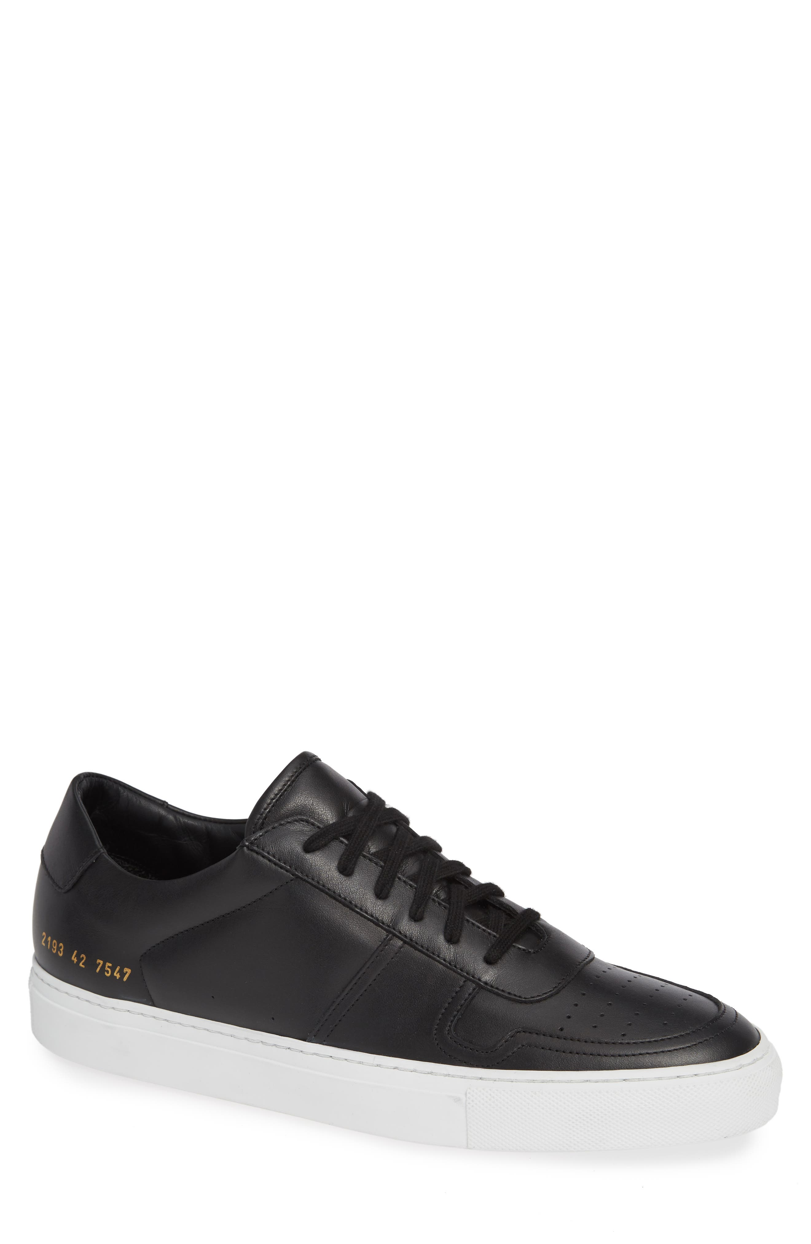 COMMON PROJECTS, Bball Low Top Sneaker, Main thumbnail 1, color, BLACK