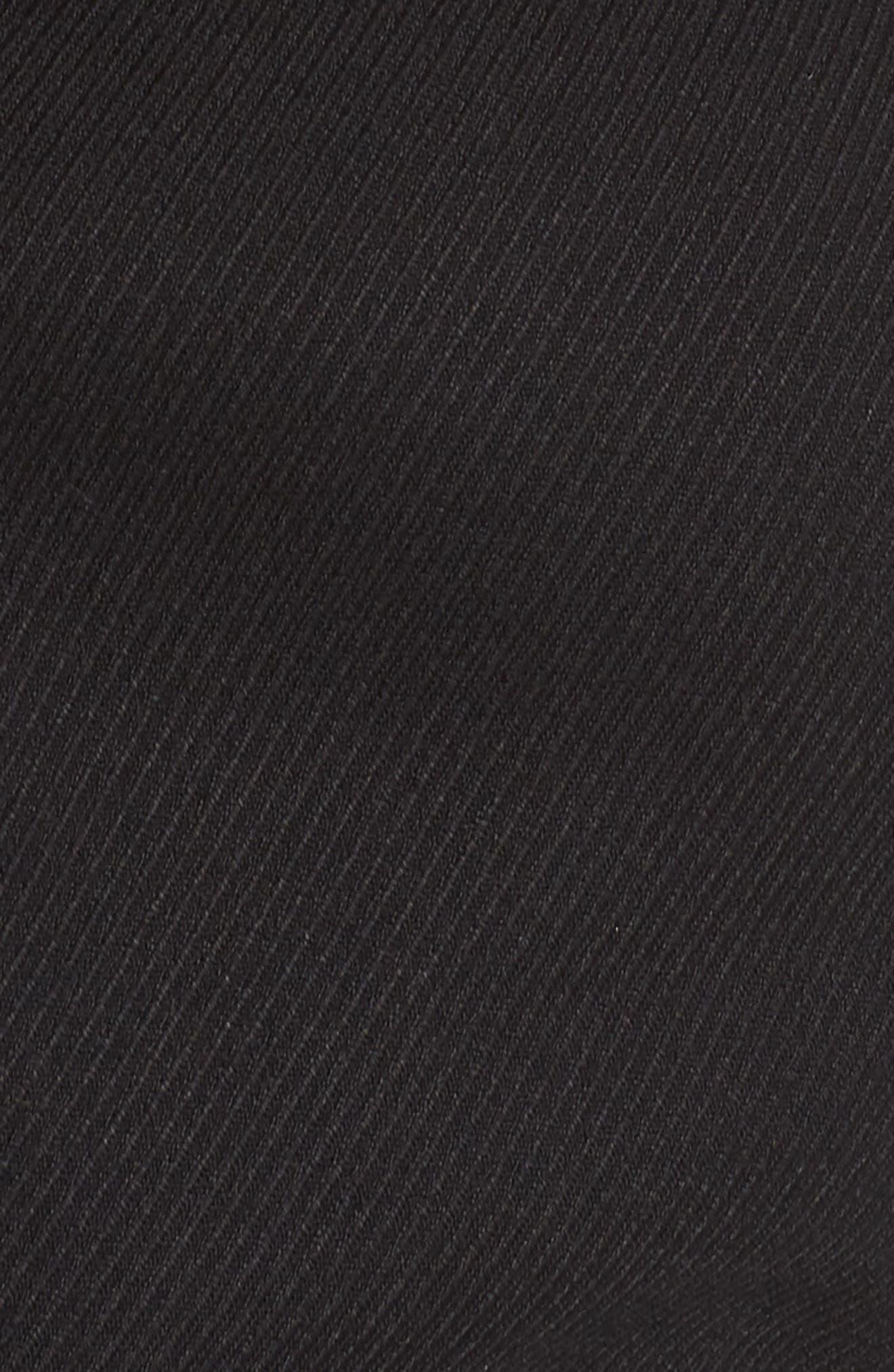 SEJOUR, Peplum Jacket, Alternate thumbnail 7, color, BLACK