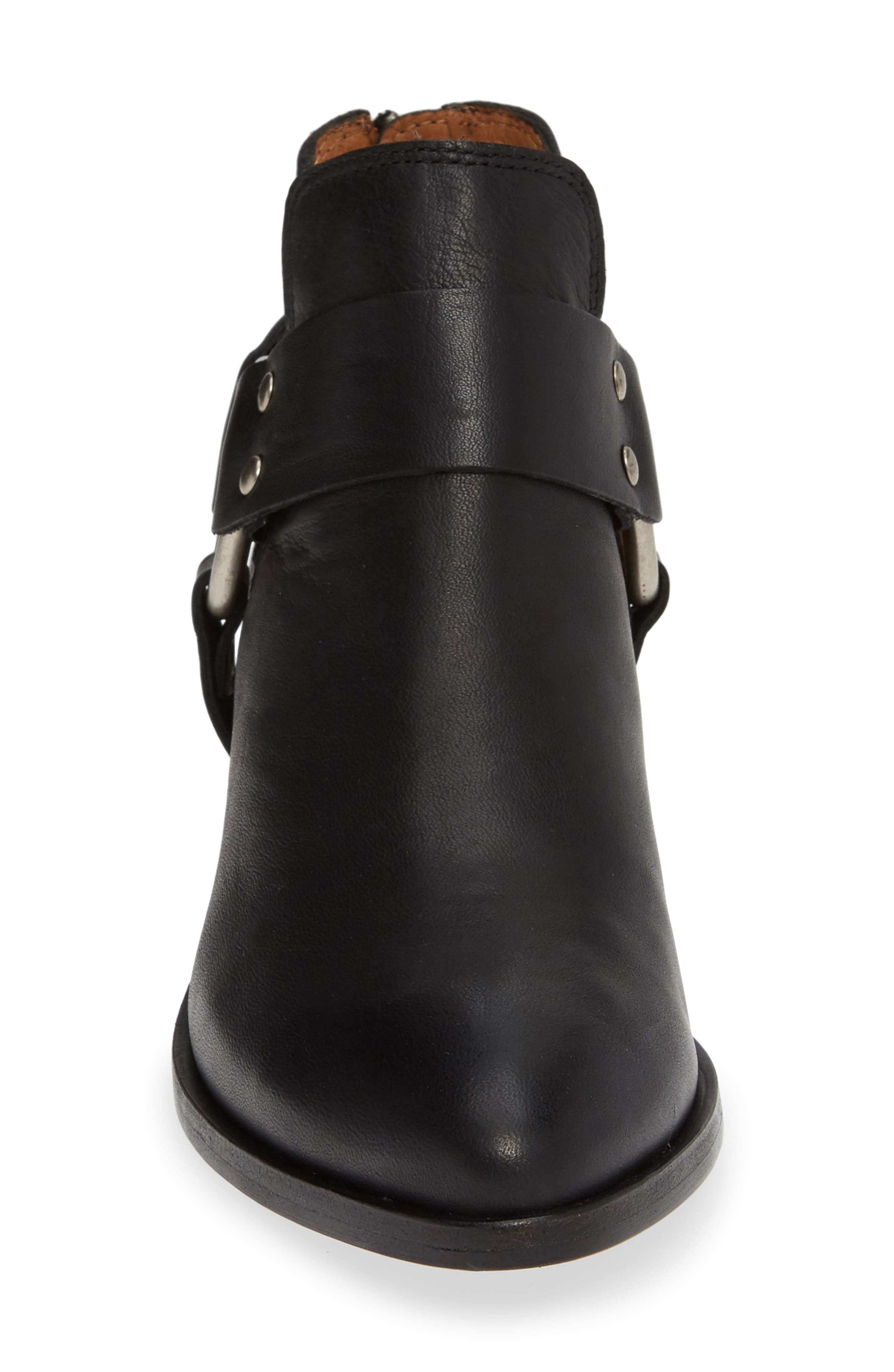 FRYE, Ray Low Harness Bootie, Alternate thumbnail 4, color, BLACK
