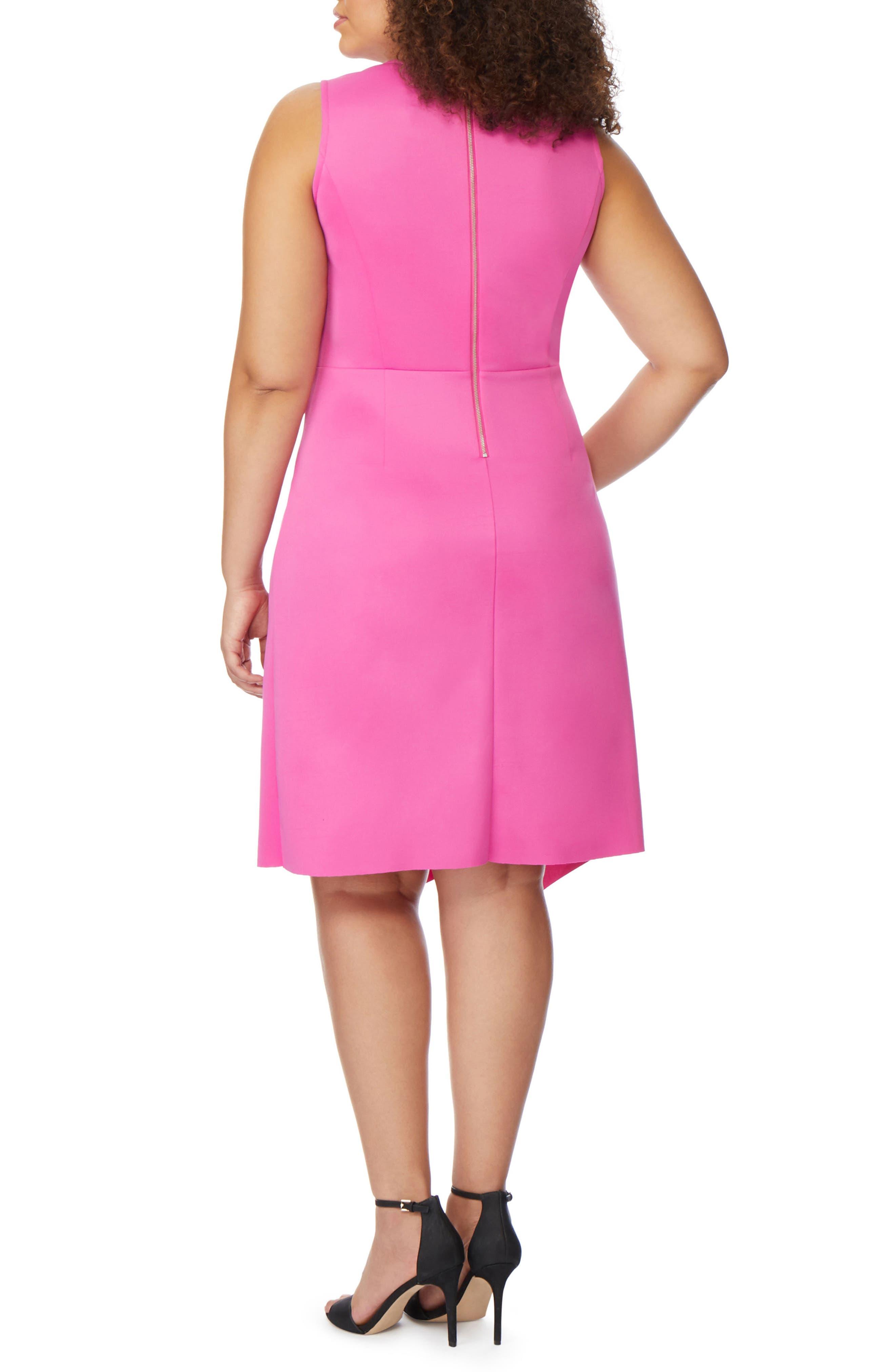 REBEL WILSON X ANGELS, Asymmetrical Hem Ruffle Dress, Alternate thumbnail 2, color, ROSE VIOLET