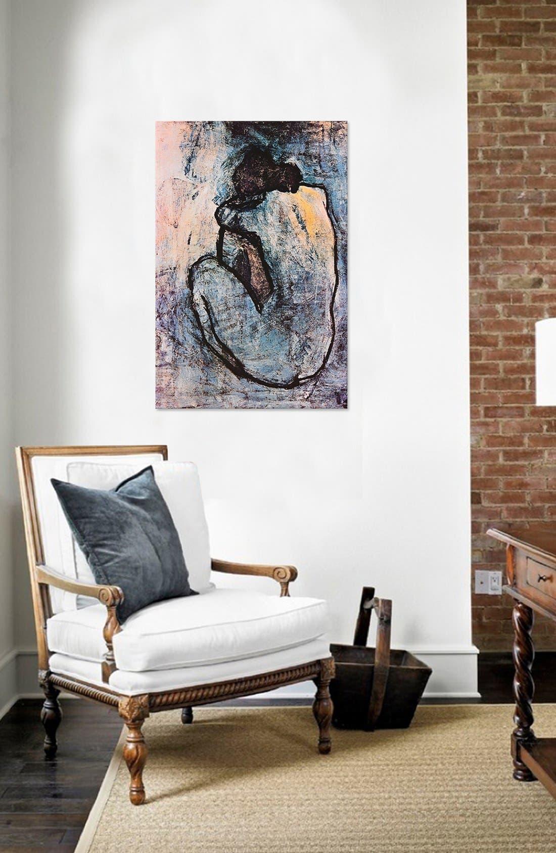 ICANVAS, 'Blue Nude - Pablo Picasso' Giclée Print Canvas Art, Alternate thumbnail 2, color, GREY