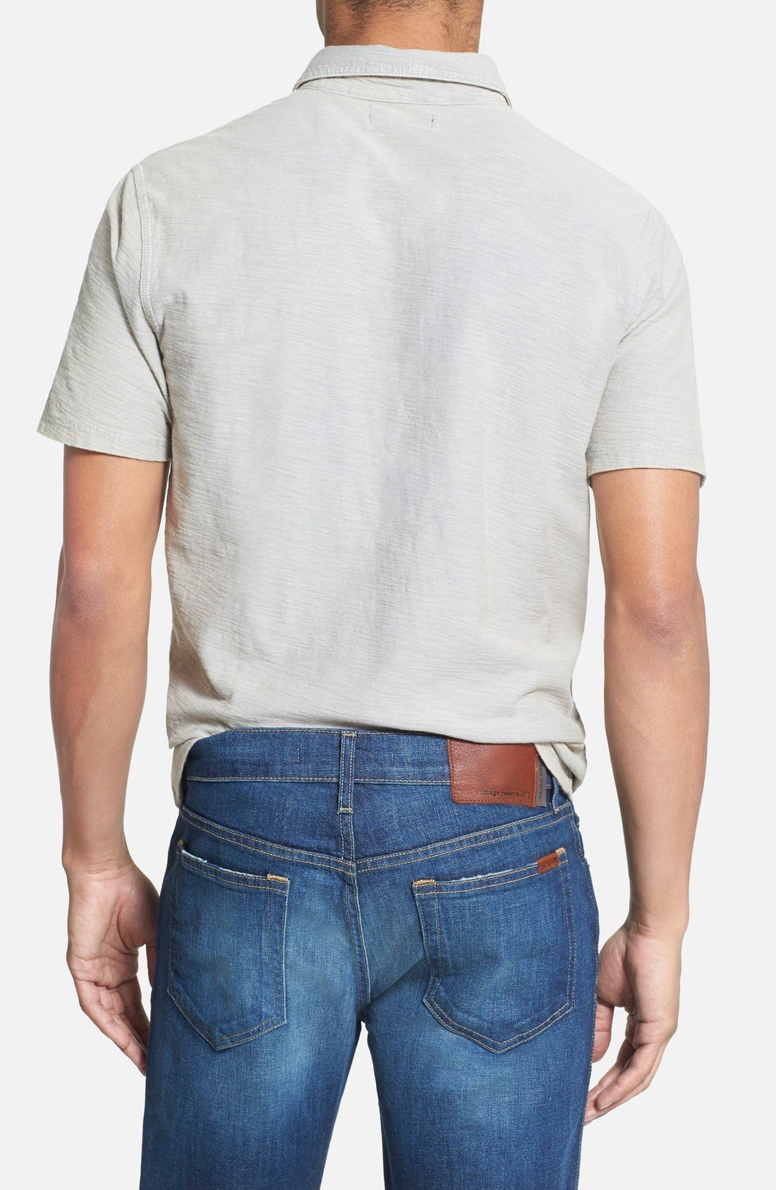 WALLIN & BROS., 'Workwear' Short Sleeve Polo, Alternate thumbnail 2, color, 030