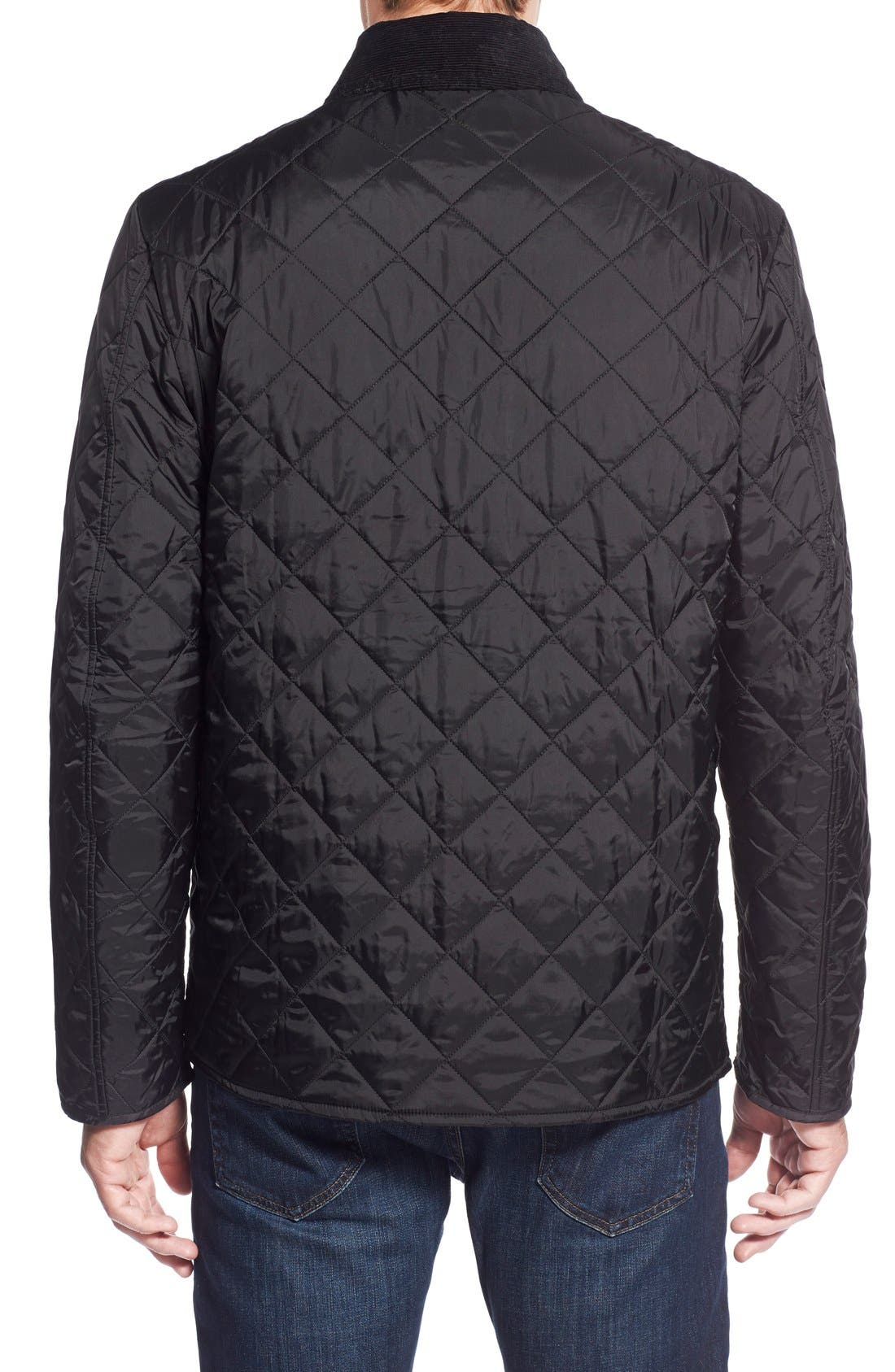 BARBOUR, 'Tinford' Regular Fit Quilted Jacket, Alternate thumbnail 2, color, 001