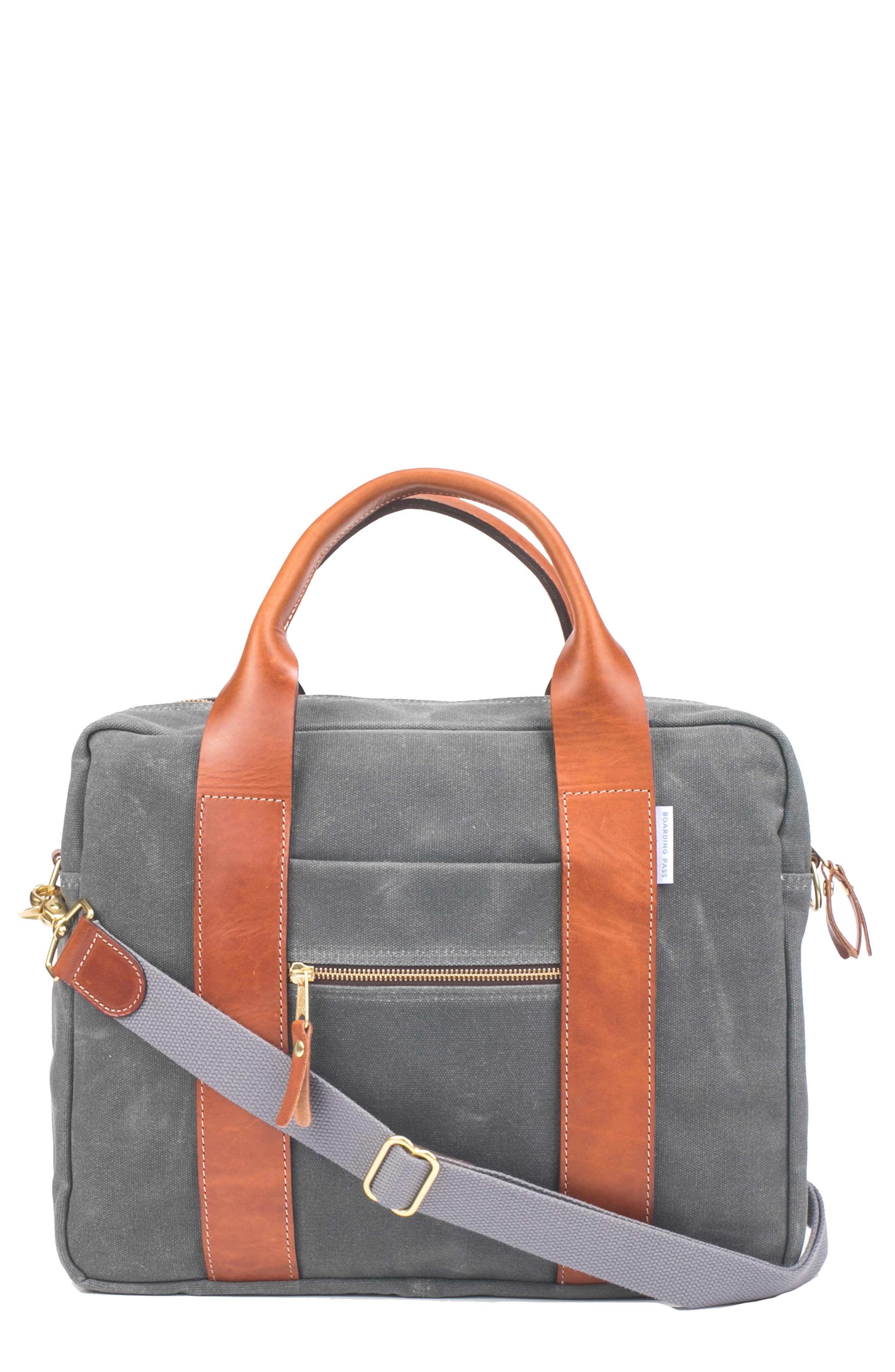 BOARDING PASS Flight Briefcase, Main, color, CHARCOAL