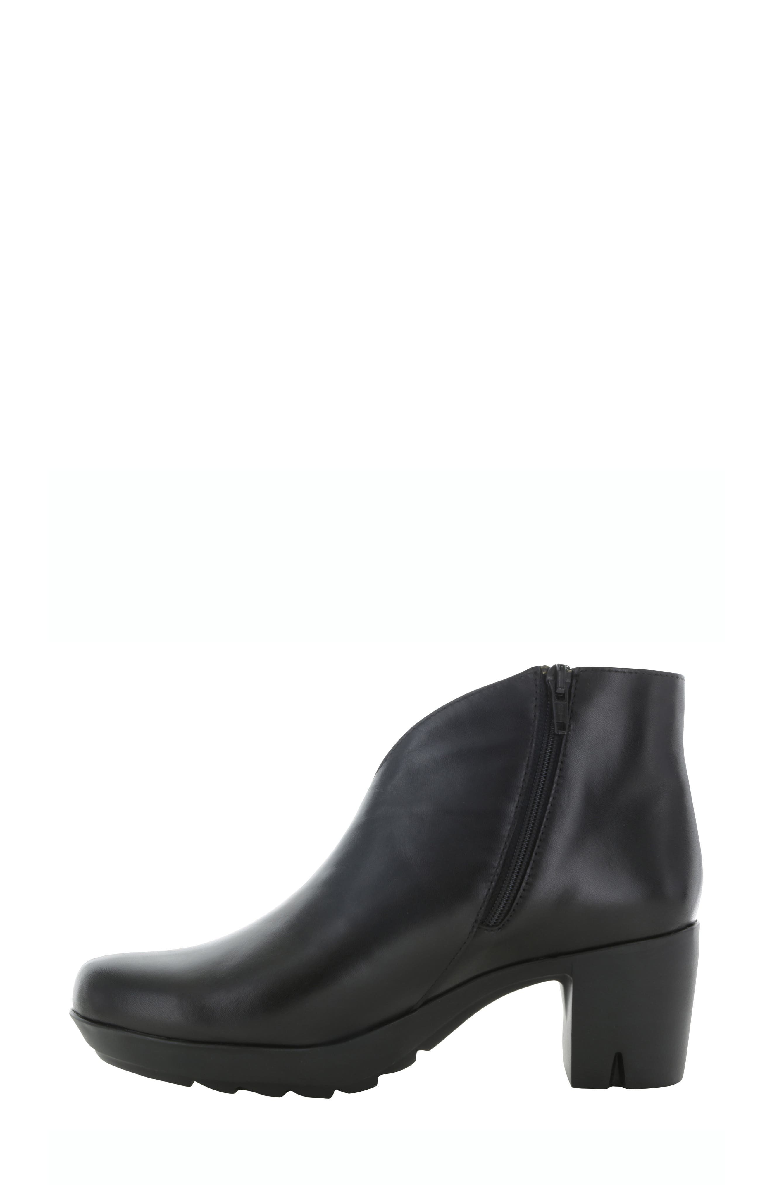 MUNRO, Robynette Bootie, Alternate thumbnail 2, color, BLACK LEATHER