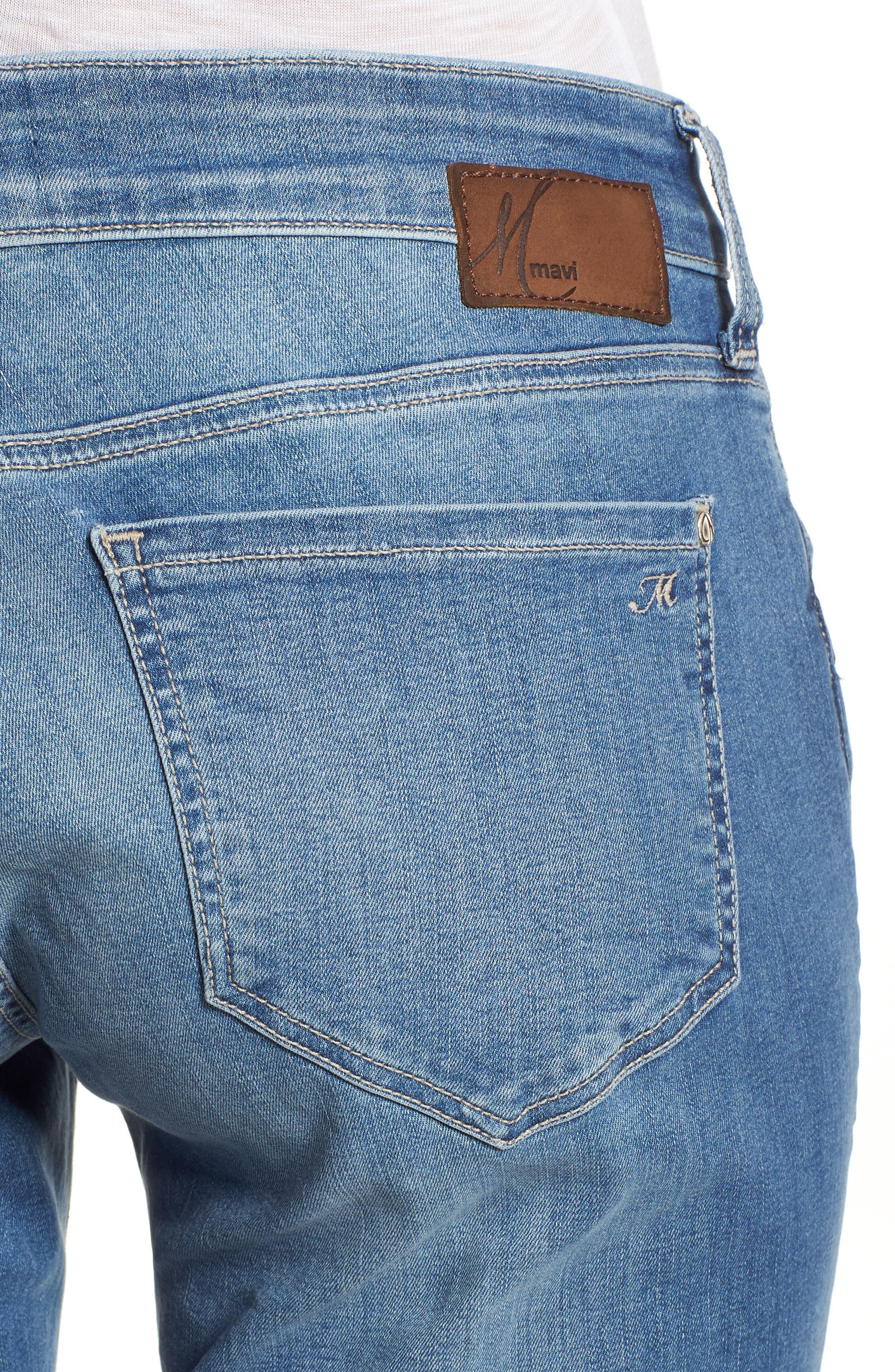 MAVI JEANS, Emma Slim Boyfriend Jeans, Alternate thumbnail 5, color, INDIGO RIPPED NOLITA