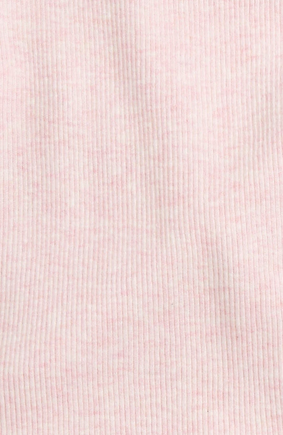 NORDSTROM BABY, Wrap Top & Footed Pants Set, Alternate thumbnail 2, color, PINK BABY HEATHER