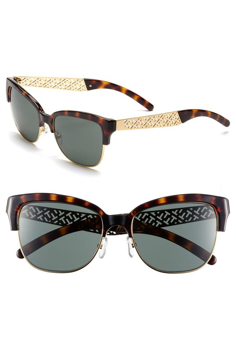 5763590e62c5 TORY BURCH 56mm Cat Eye Sunglasses, Main, color, 200