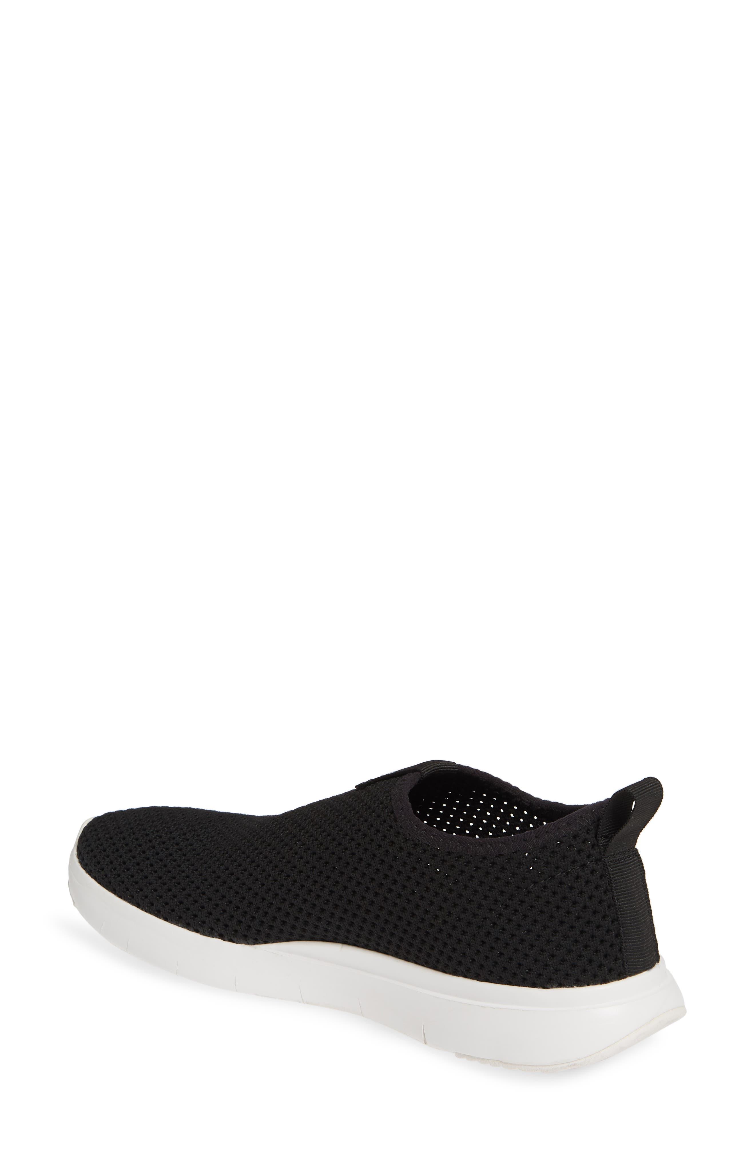 FITFLOP, Airmesh Slip-On Sneaker, Alternate thumbnail 2, color, BLACK