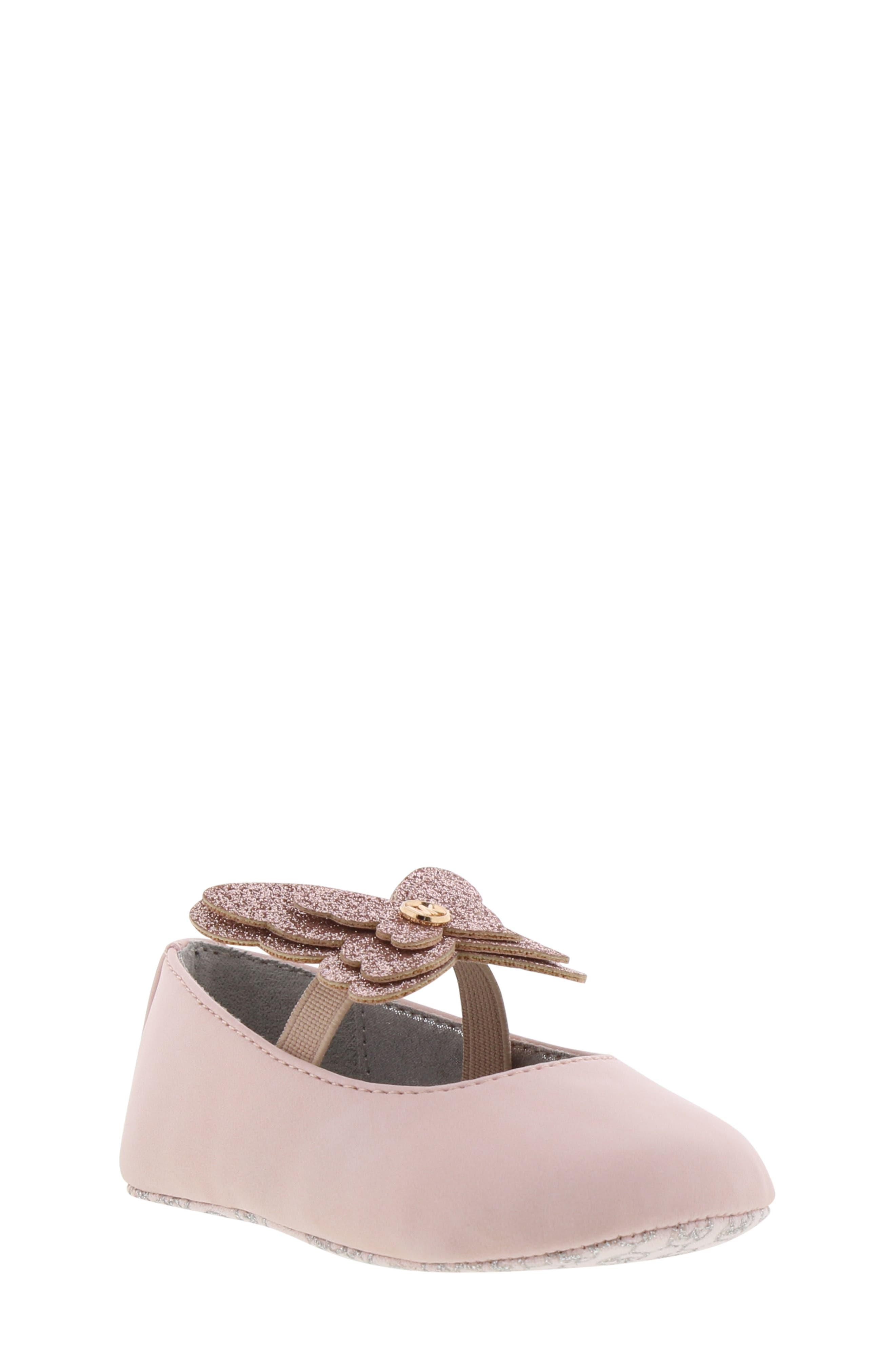 MICHAEL MICHAEL KORS Brandee Glitter Butterfly Mary Jane, Main, color, BLUSH