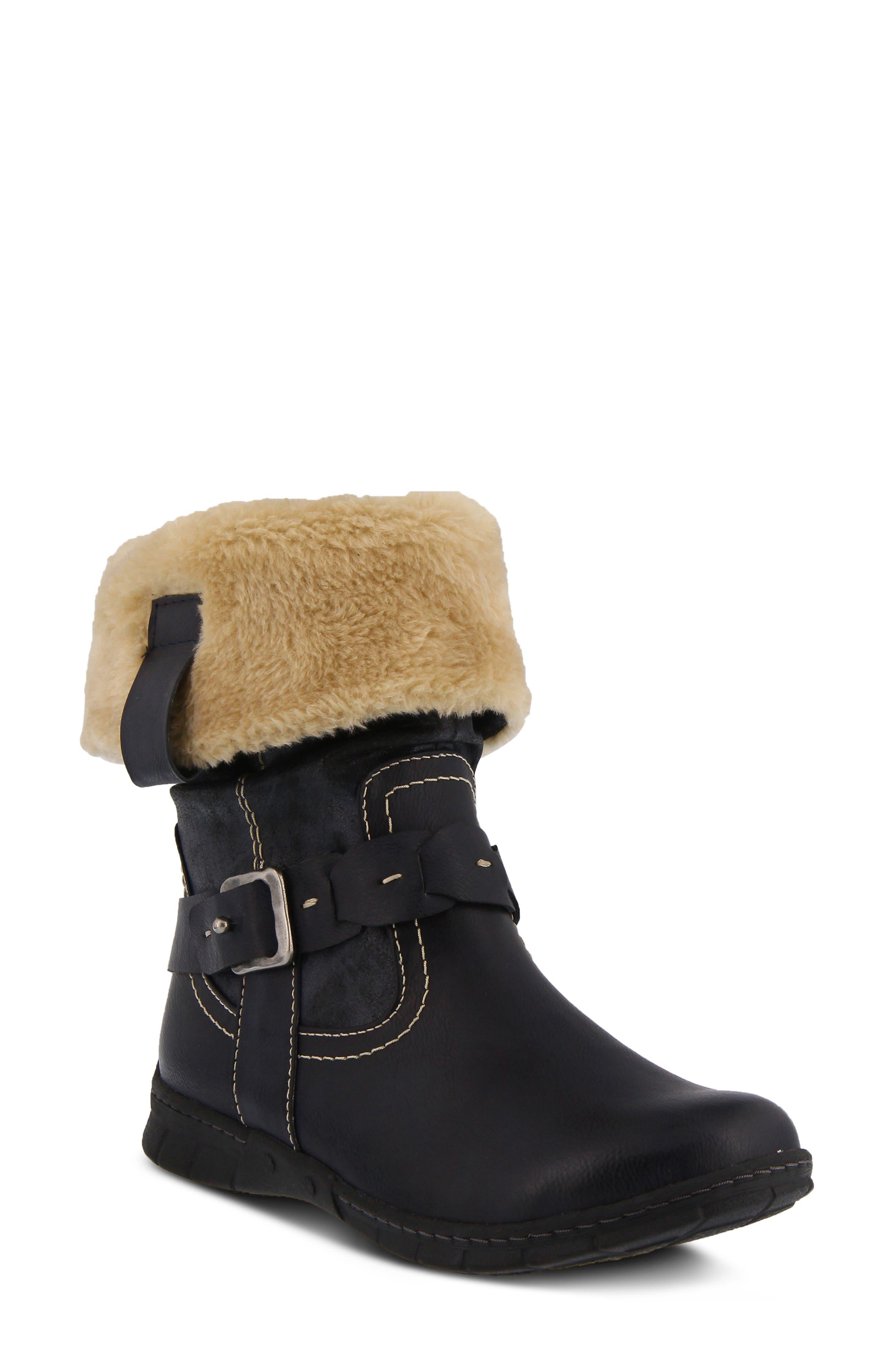 Spring Step Peeta Water Resistant Faux Fur Boot - Blue