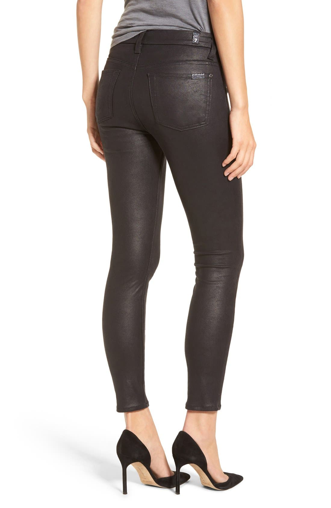 7 FOR ALL MANKIND<SUP>®</SUP>, Knee Seam Skinny Pants, Alternate thumbnail 3, color, 004