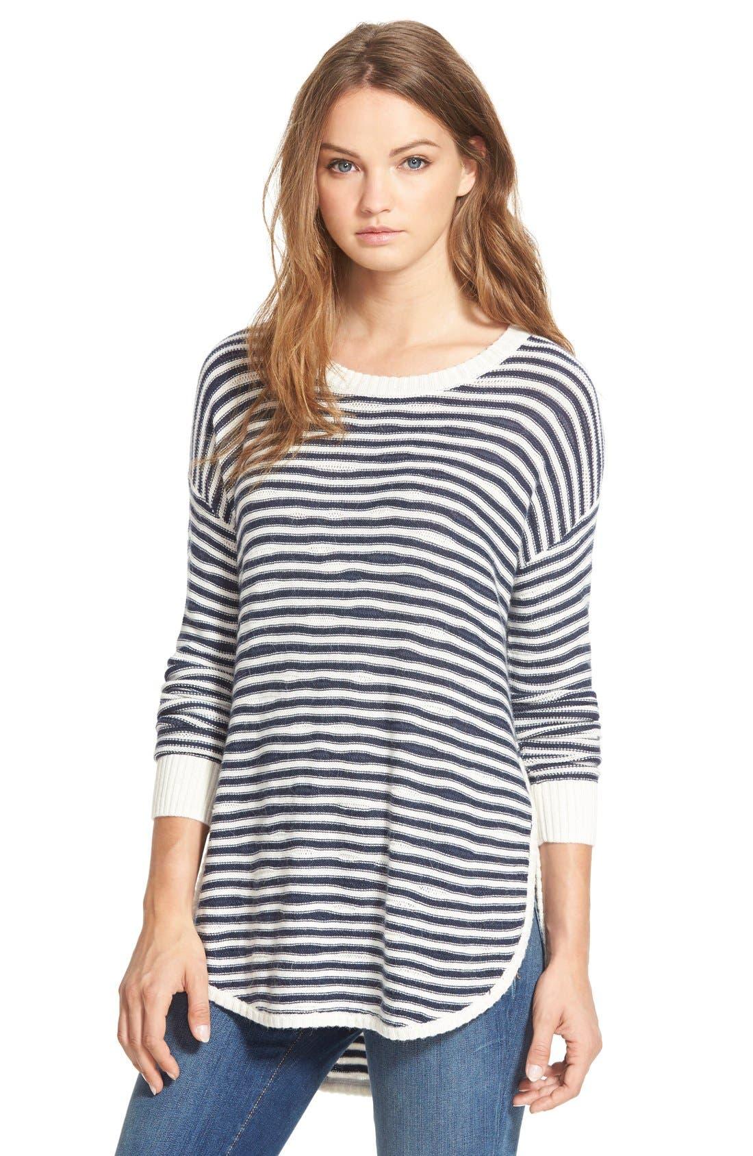 TREASURE & BOND Treasure&Bond Asymmetrical Stripe Sweater, Main, color, 400