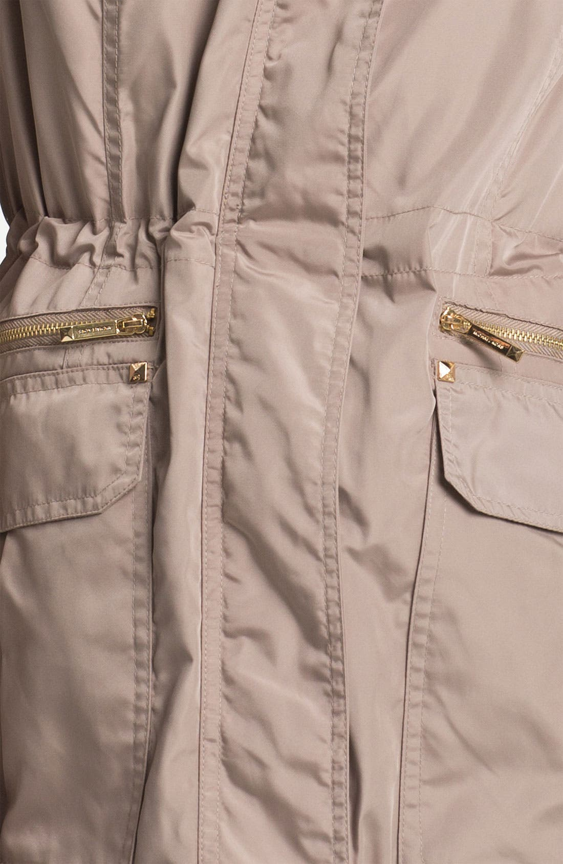 MICHAEL MICHAEL KORS, Fly Front Anorak, Alternate thumbnail 3, color, 250