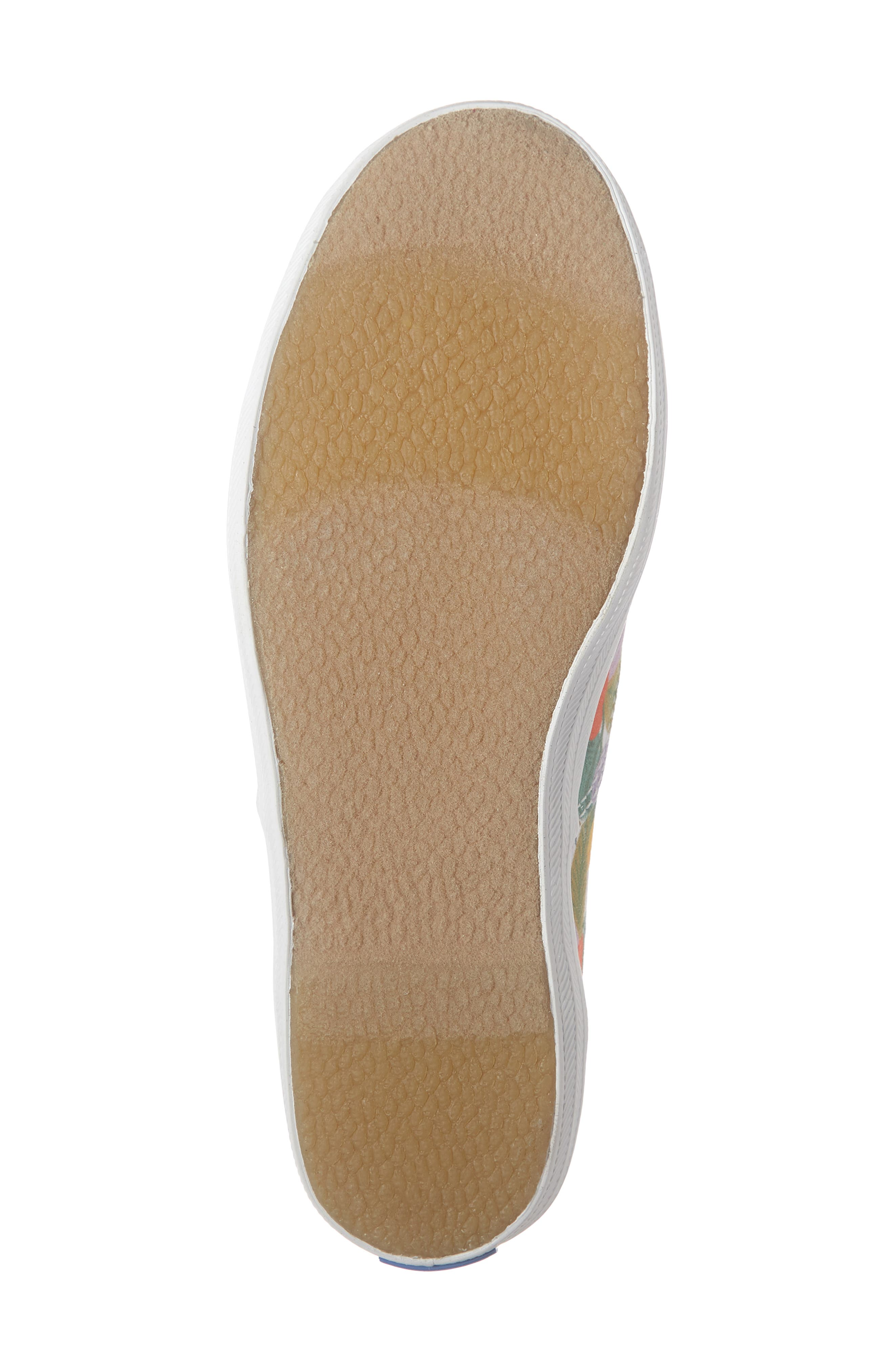 KEDS<SUP>®</SUP>, x Rifle Paper Co. Floral Print Champion Sneaker, Alternate thumbnail 6, color, GARDEN PARTY