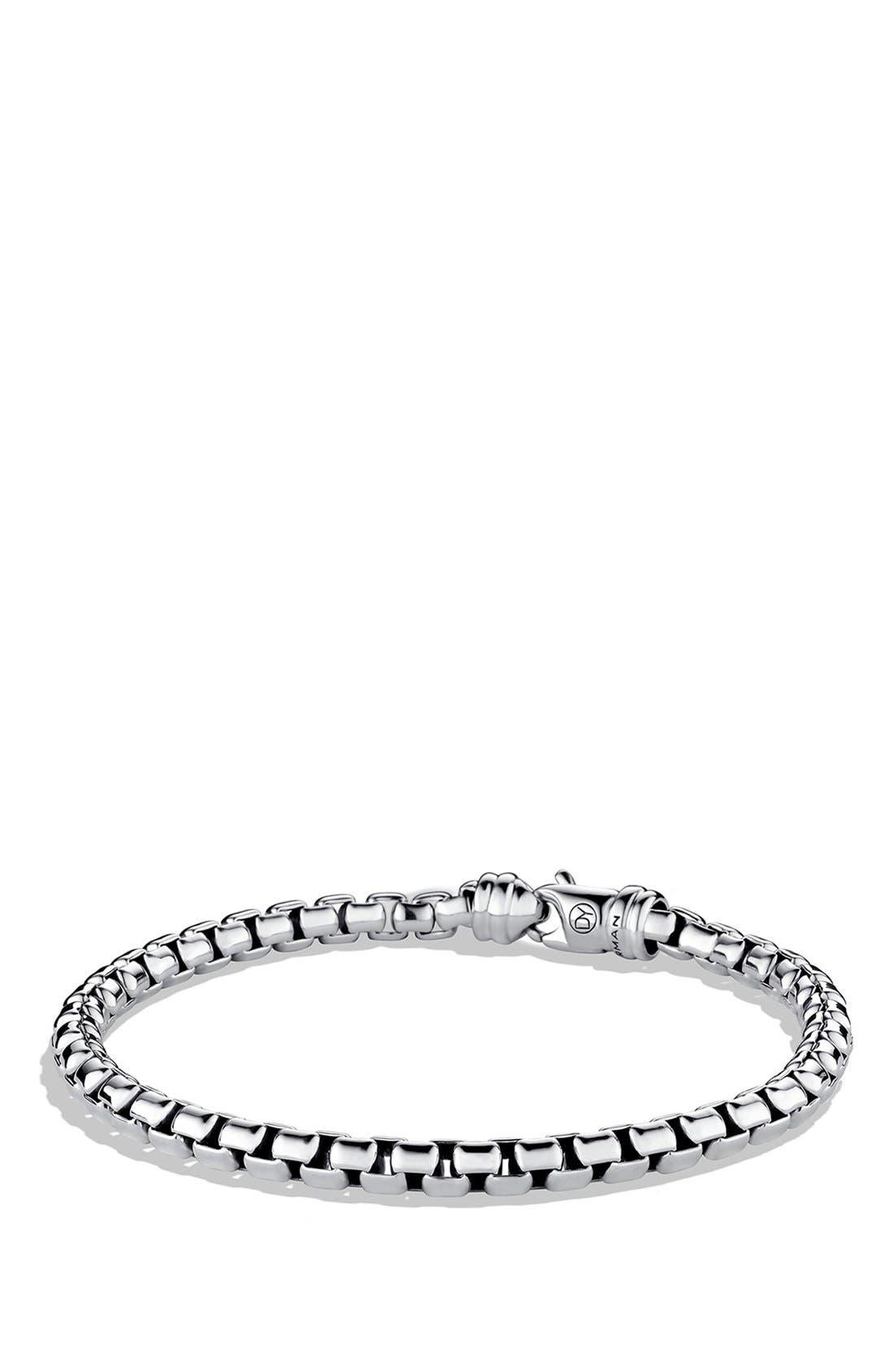 DAVID YURMAN, 'Chain' Large Link Box Chain Bracelet, Main thumbnail 1, color, SILVER