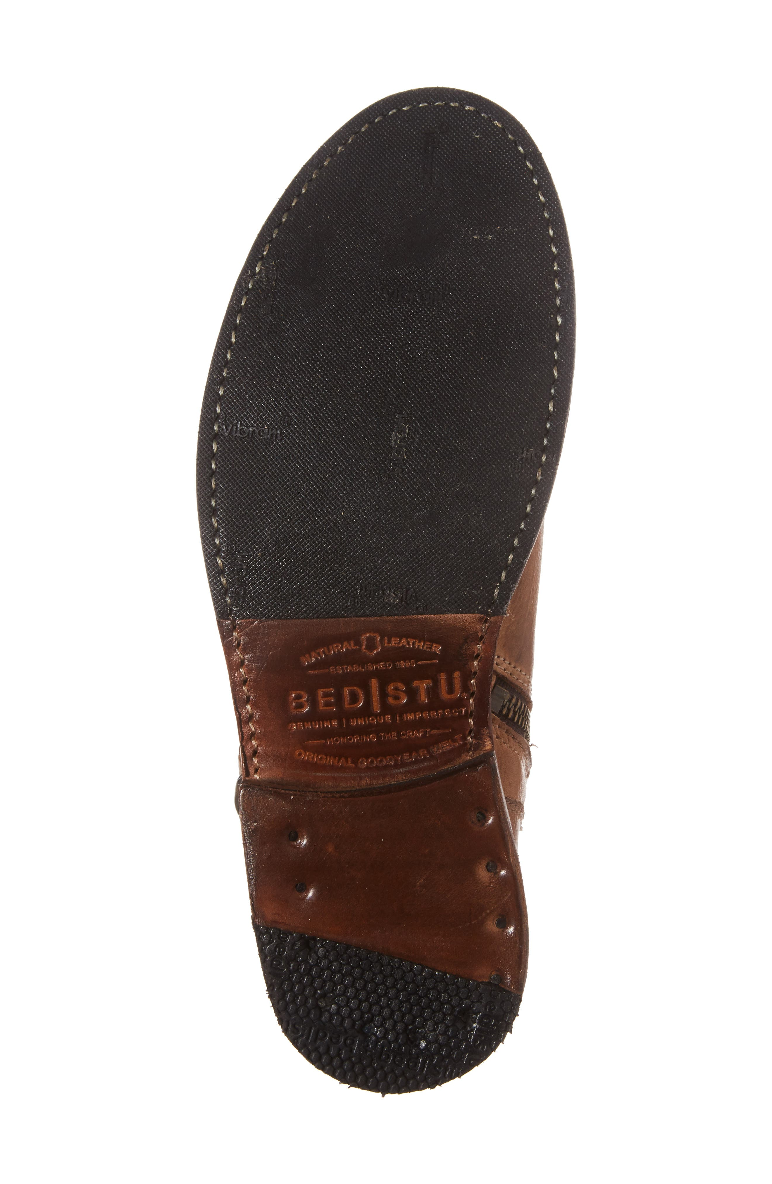 BED STU, Becca Buckle Boot, Alternate thumbnail 6, color, TAN RUSTIC LEATHER