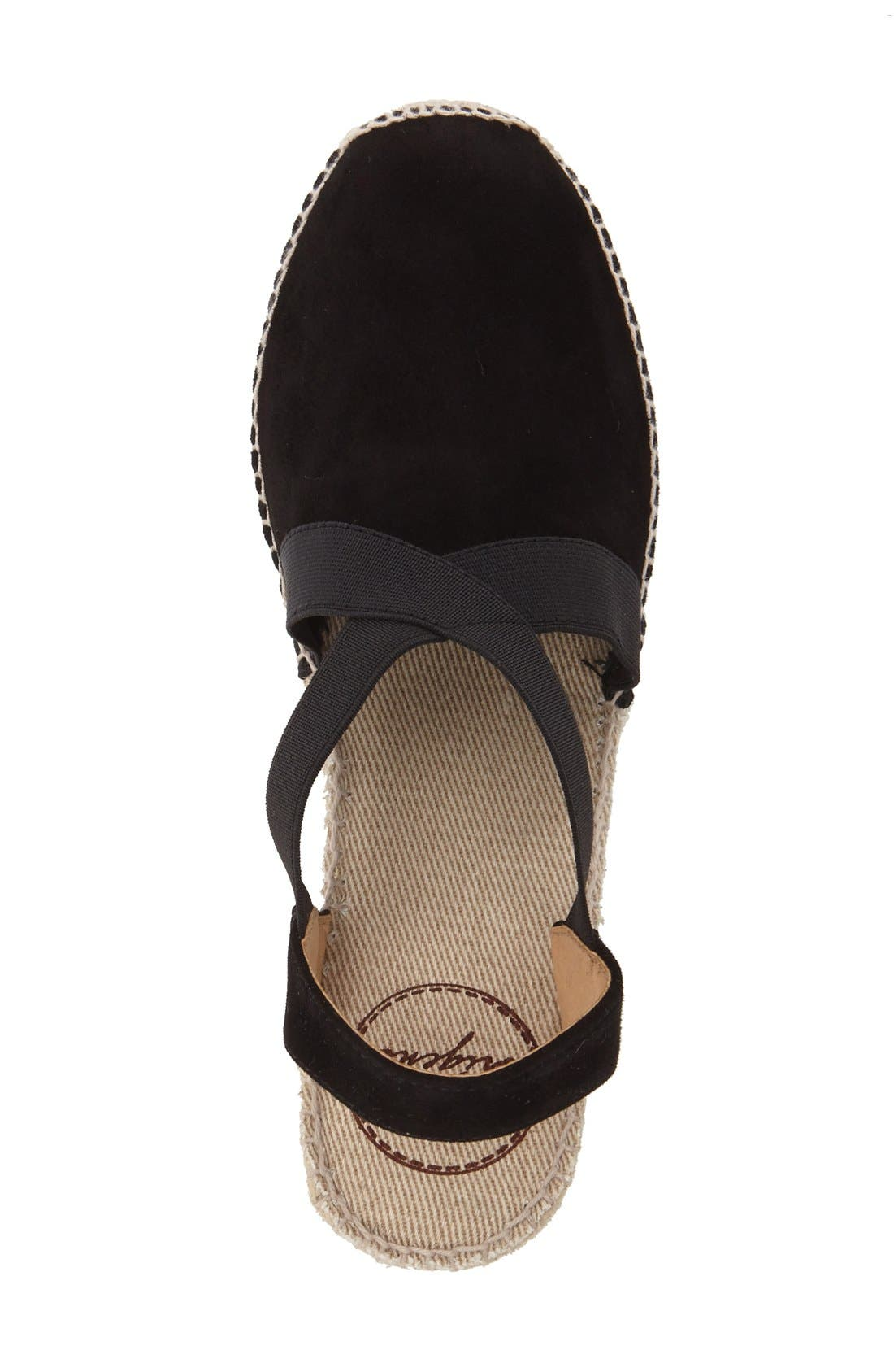 TONI PONS, Tona Espadrille Wedge, Alternate thumbnail 2, color, BLACK SUEDE
