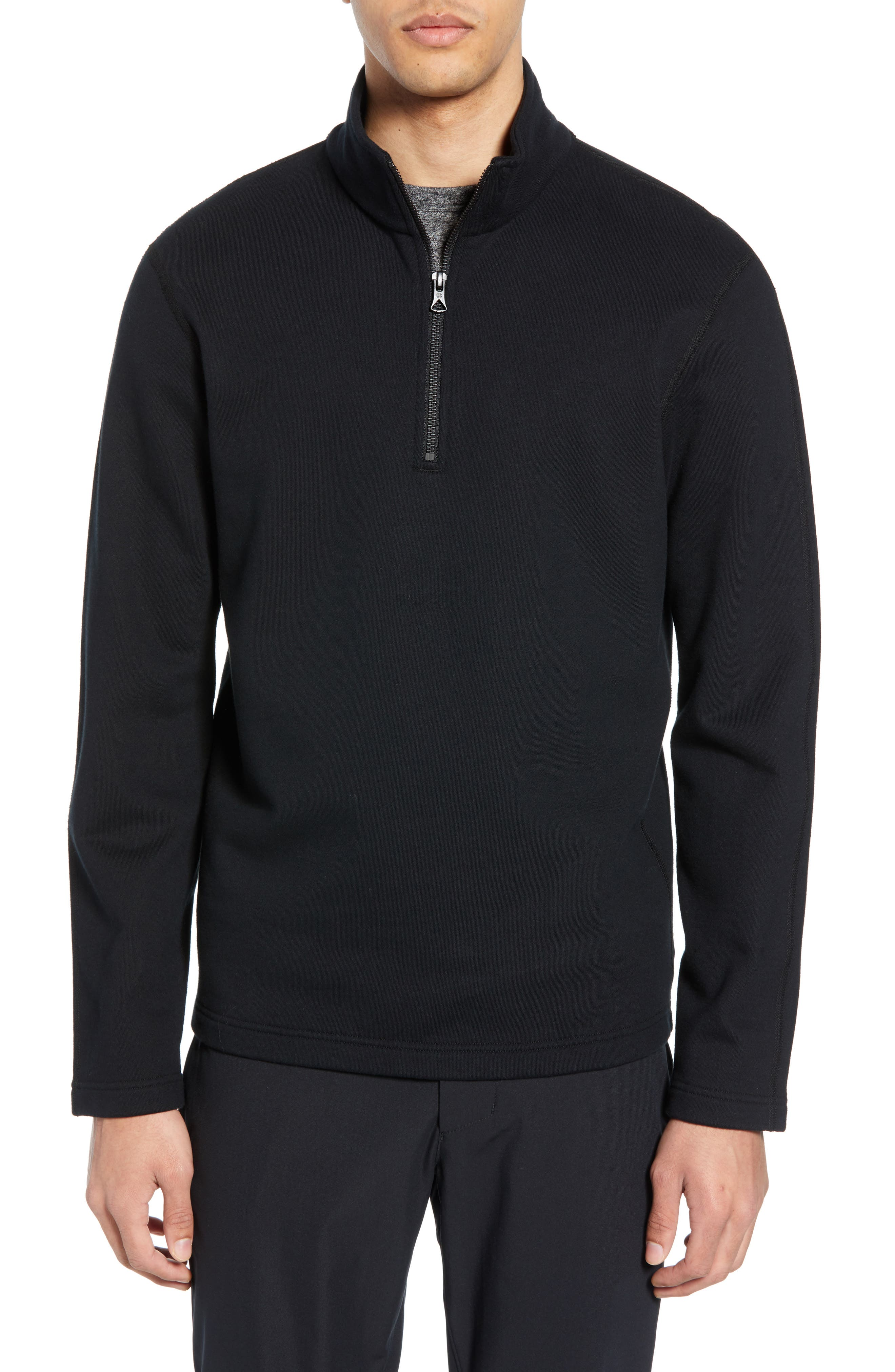 REIGNING CHAMP, Half Zip Pullover, Main thumbnail 1, color, 001