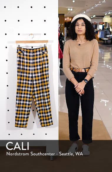 Tara Check Twill Crop Trousers, sales video thumbnail