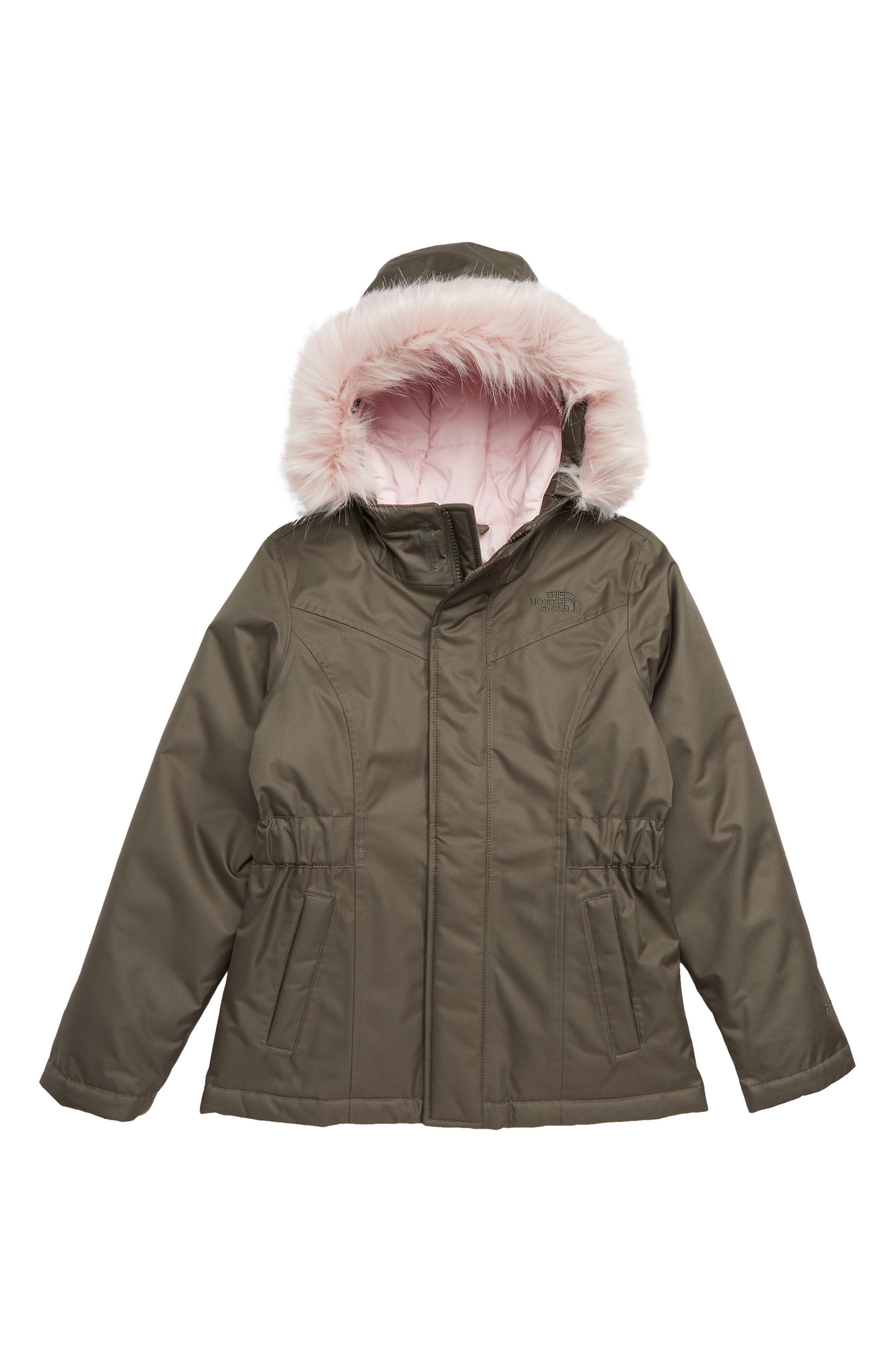 THE NORTH FACE, Greenland Waterproof 550-Fill-Power Down Parka, Main thumbnail 1, color, NEW TAUPE GREEN