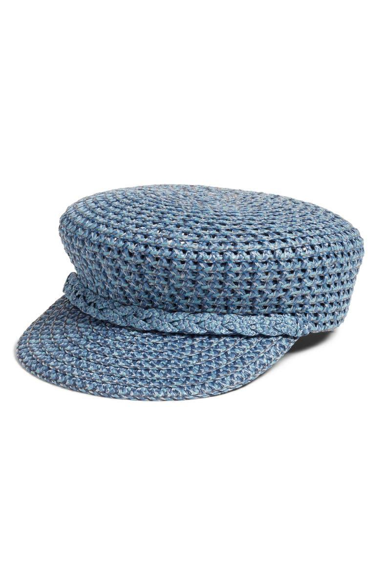 Eric Javits Accessories CAPITAN SQUISHEE CAP - BLUE