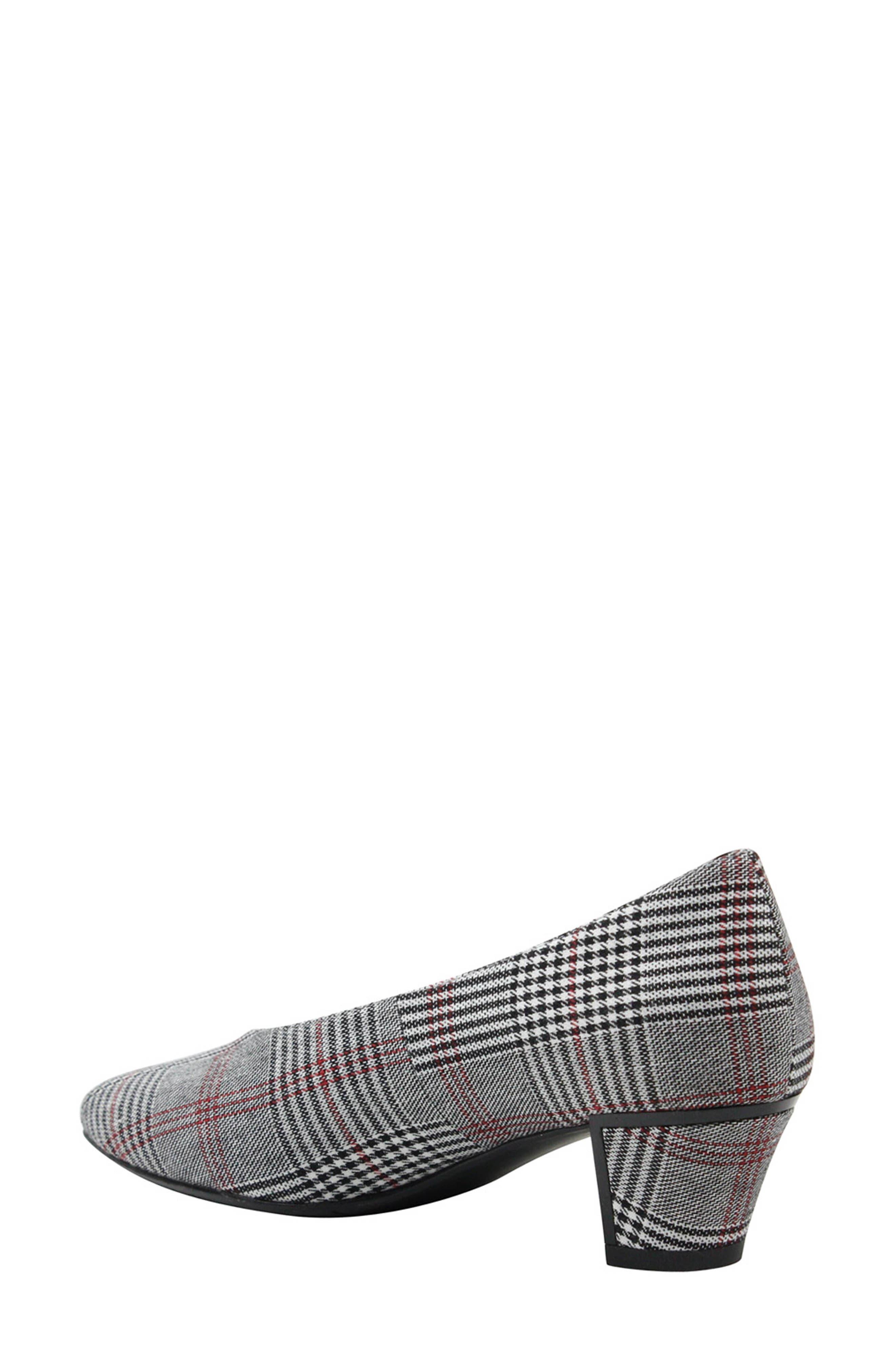 J. RENEÉ, Clarion Pump, Alternate thumbnail 2, color, BLACK/ WHITE/ RED PLAID