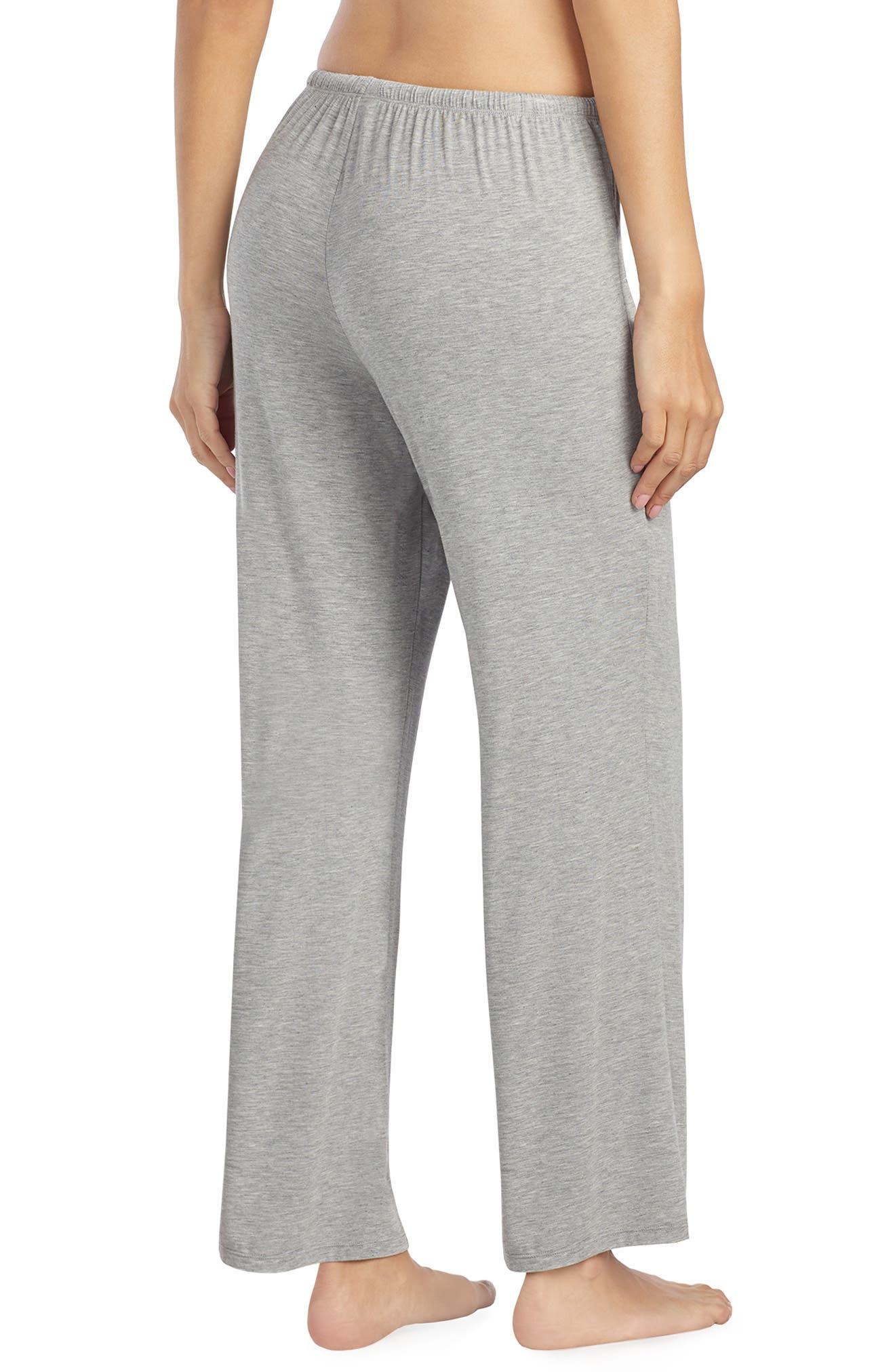 LAUREN RALPH LAUREN, Pajama Pants, Alternate thumbnail 2, color, GREY