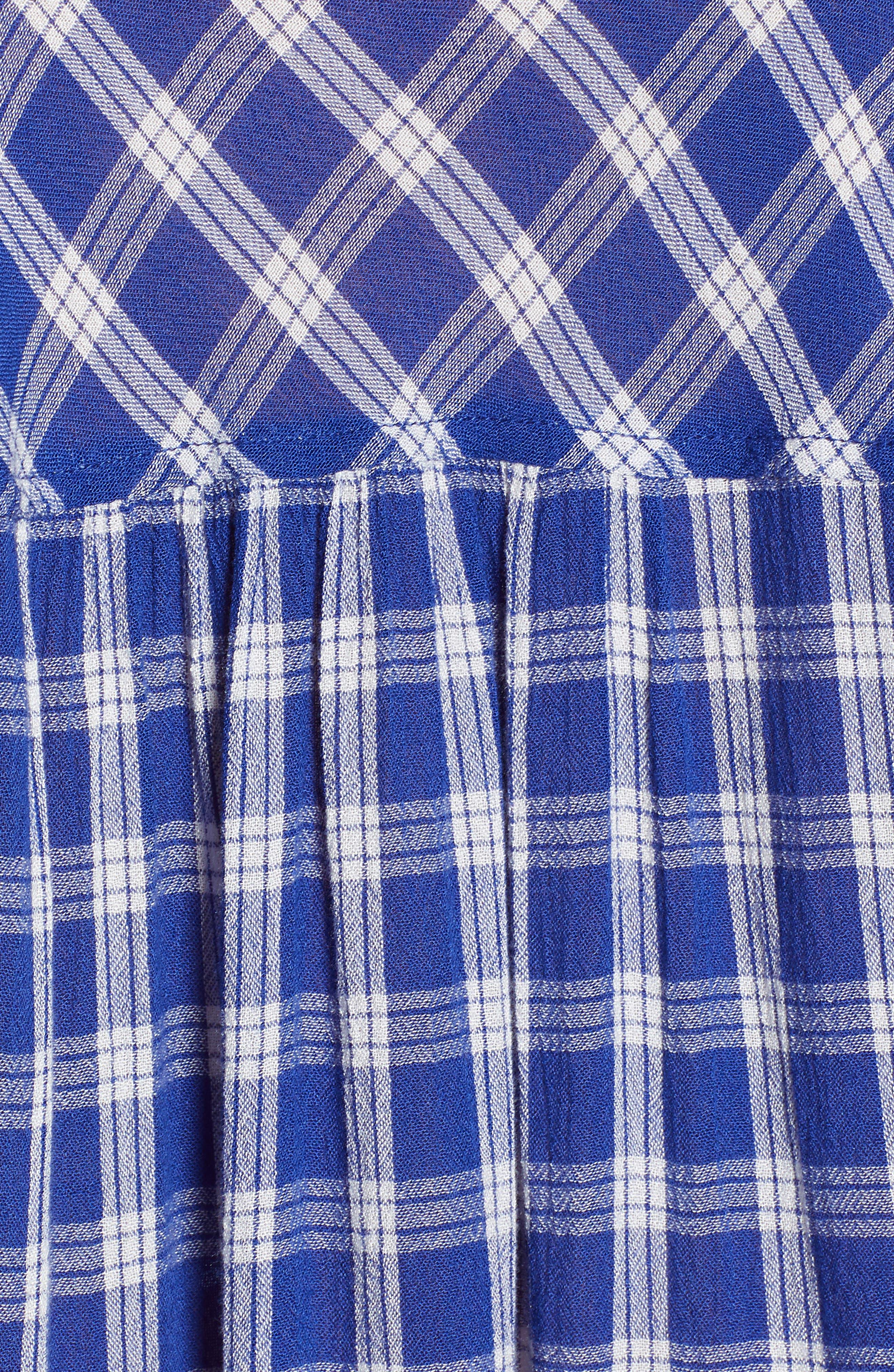 BP., Plaid Dolman Sleeve Shirt, Alternate thumbnail 6, color, 420