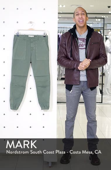 Stretch Cotton Twill Crop Military Pants, sales video thumbnail