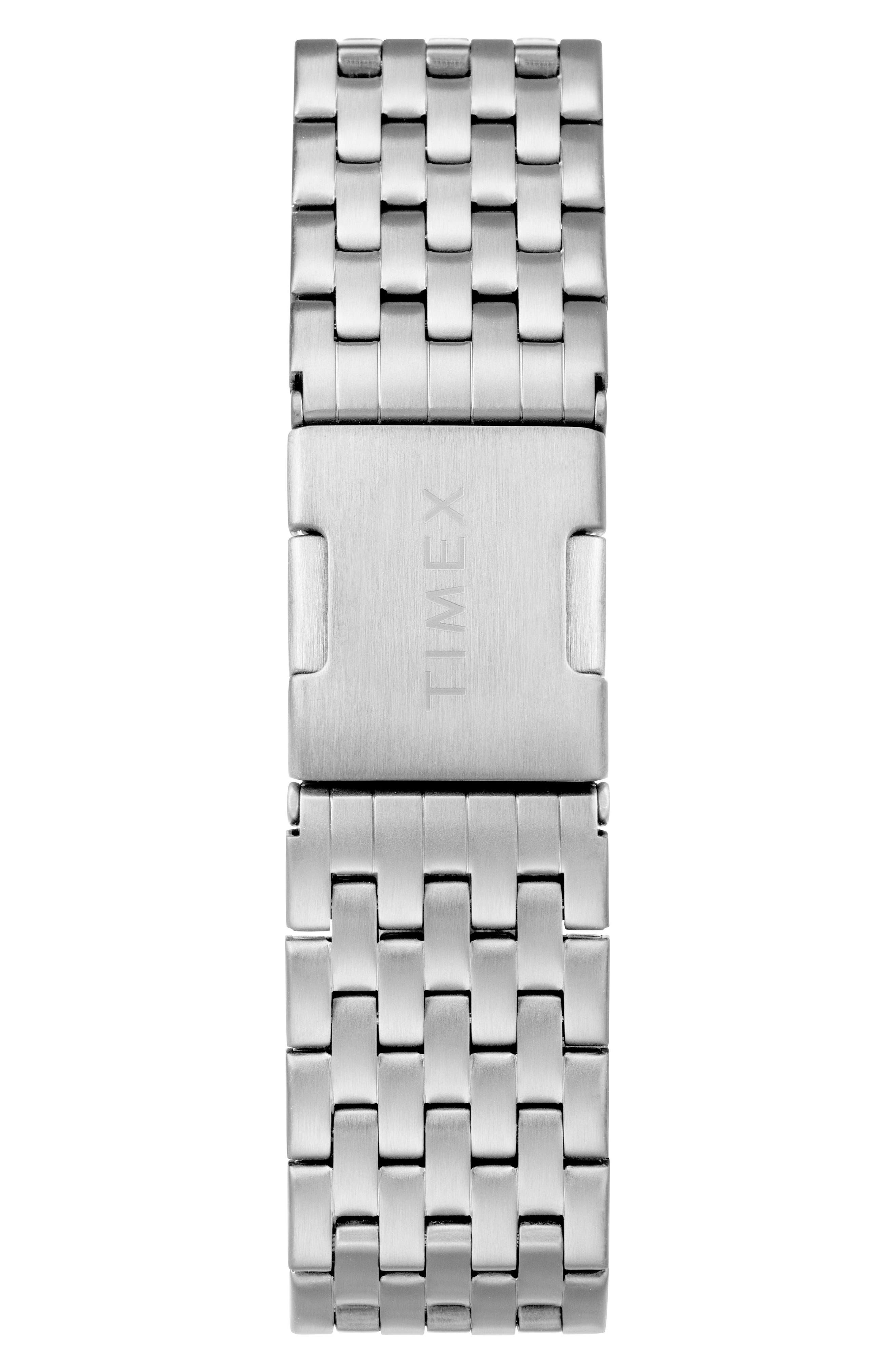 TIMEX<SUP>®</SUP>, Waterbury Chronograph Bracelet Watch, 40mm, Alternate thumbnail 2, color, SILVER/ BLACK/ SILVER