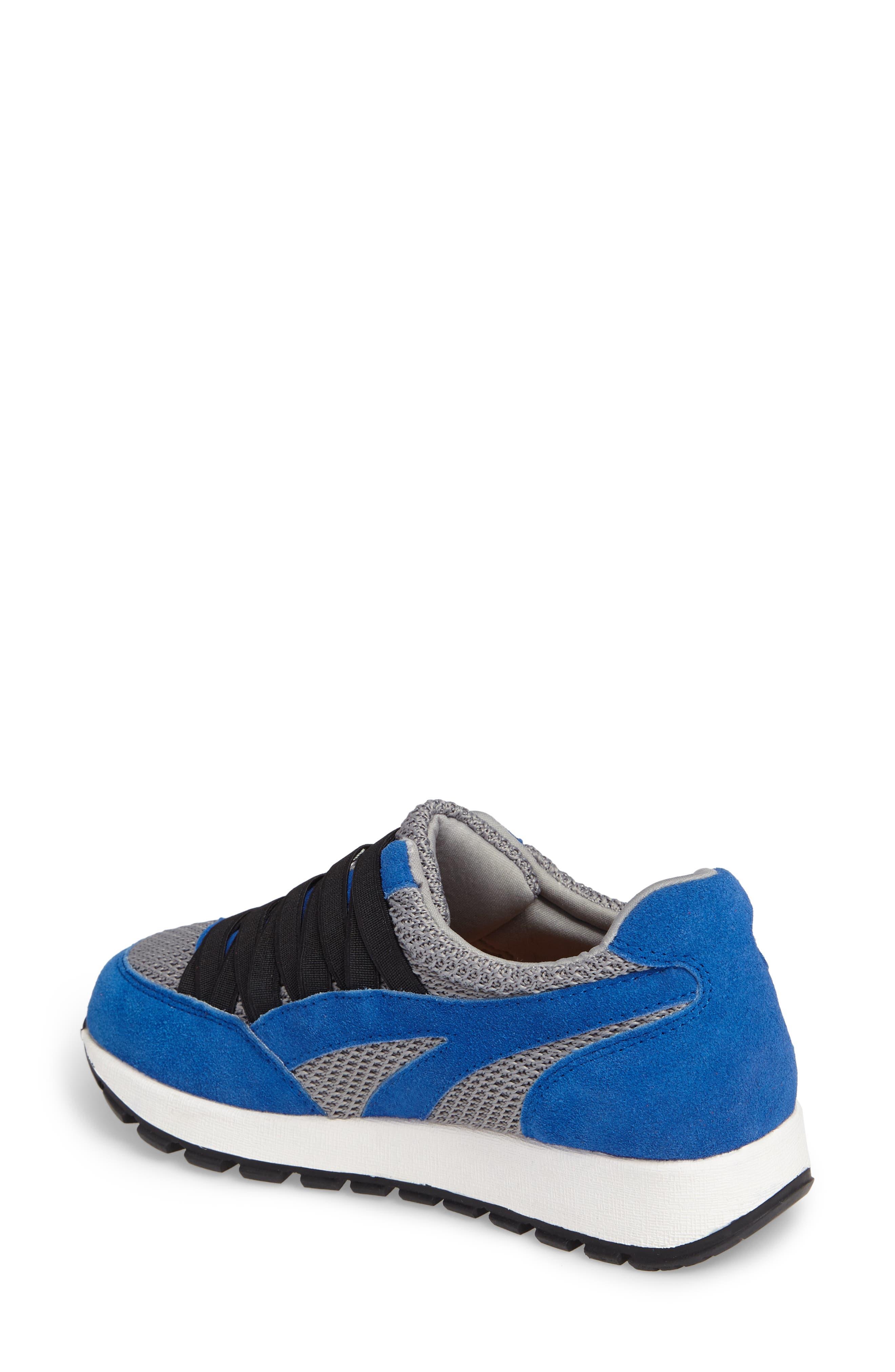 BERNIE MEV., Bernie Mev Tara Cano Sneaker, Alternate thumbnail 2, color, ROYAL BLUE/ GREY FABRIC