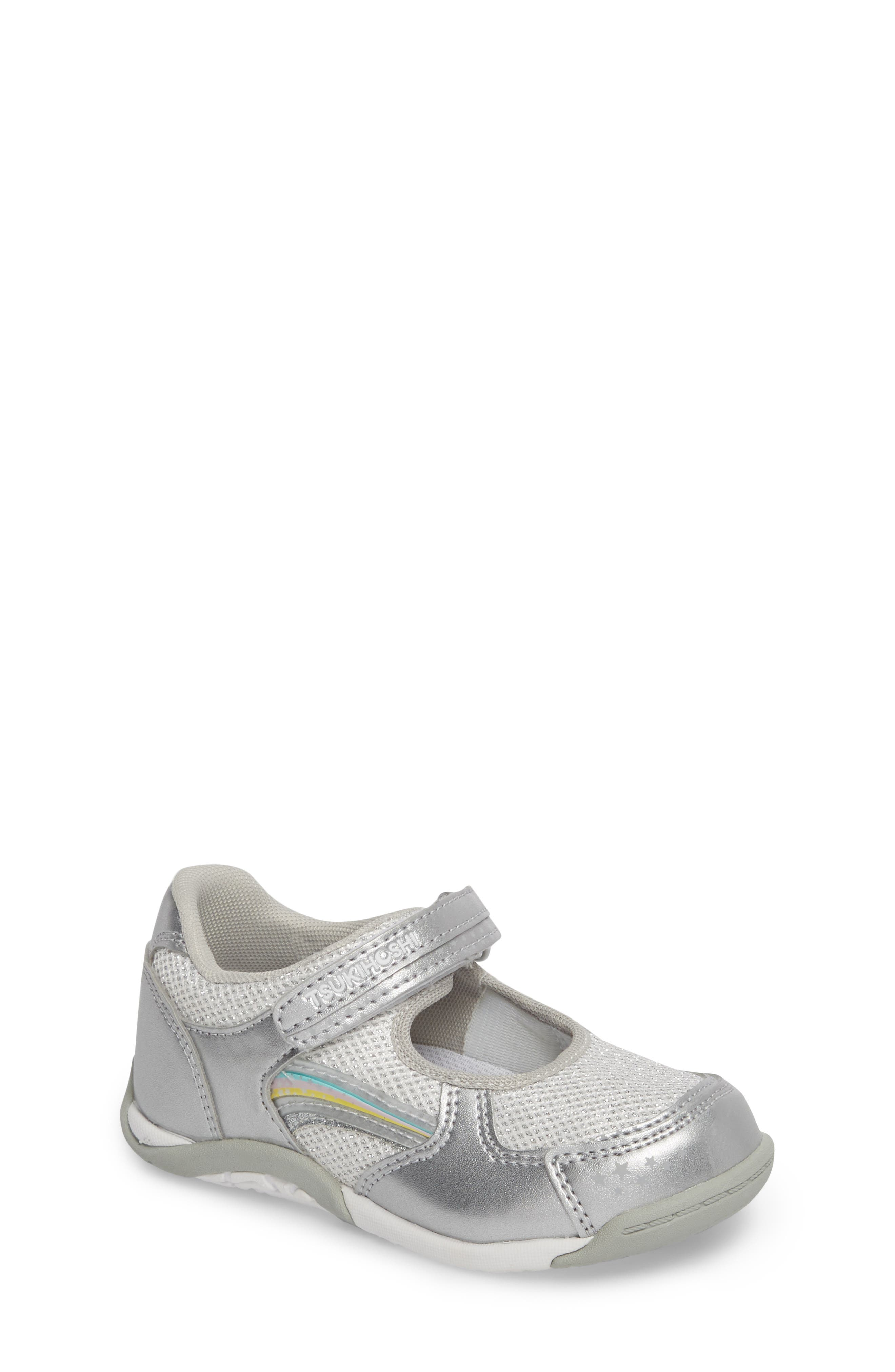 TSUKIHOSHI Twinkle Washable Sneaker, Main, color, SILVER/ SILVER