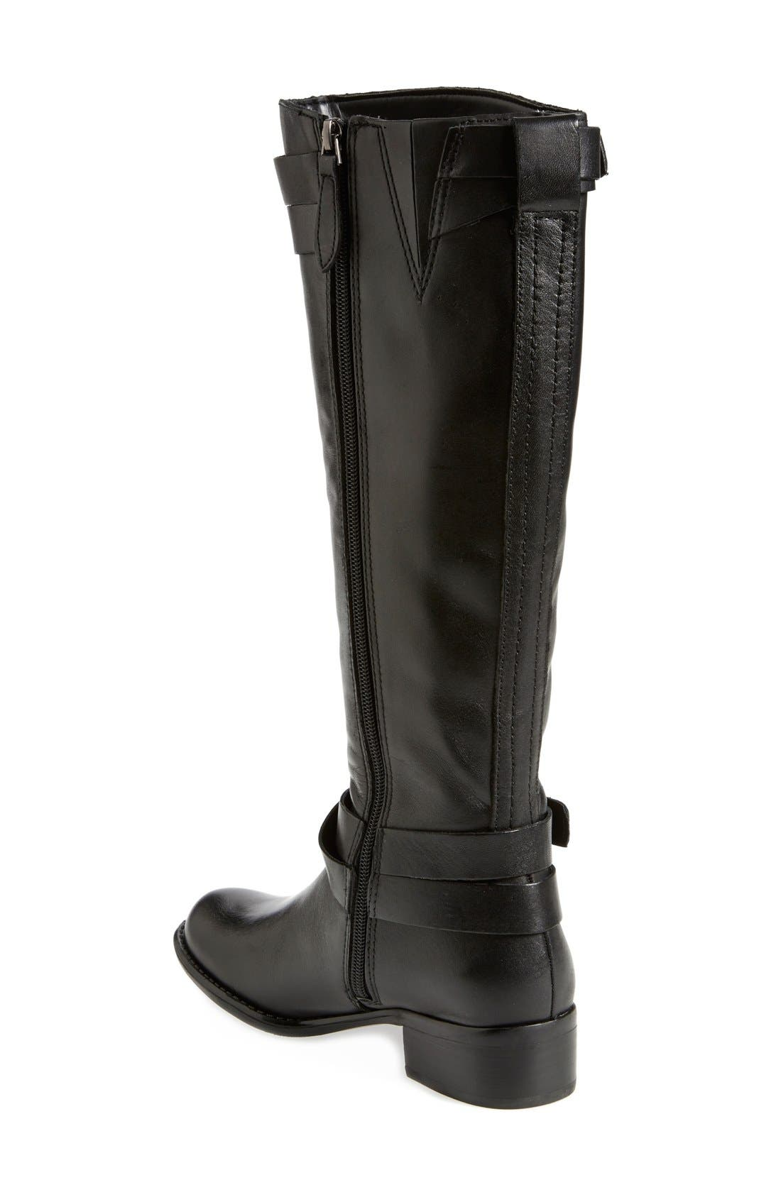 FRANCO SARTO, 'Canary' Leather Riding Boot, Alternate thumbnail 2, color, 001