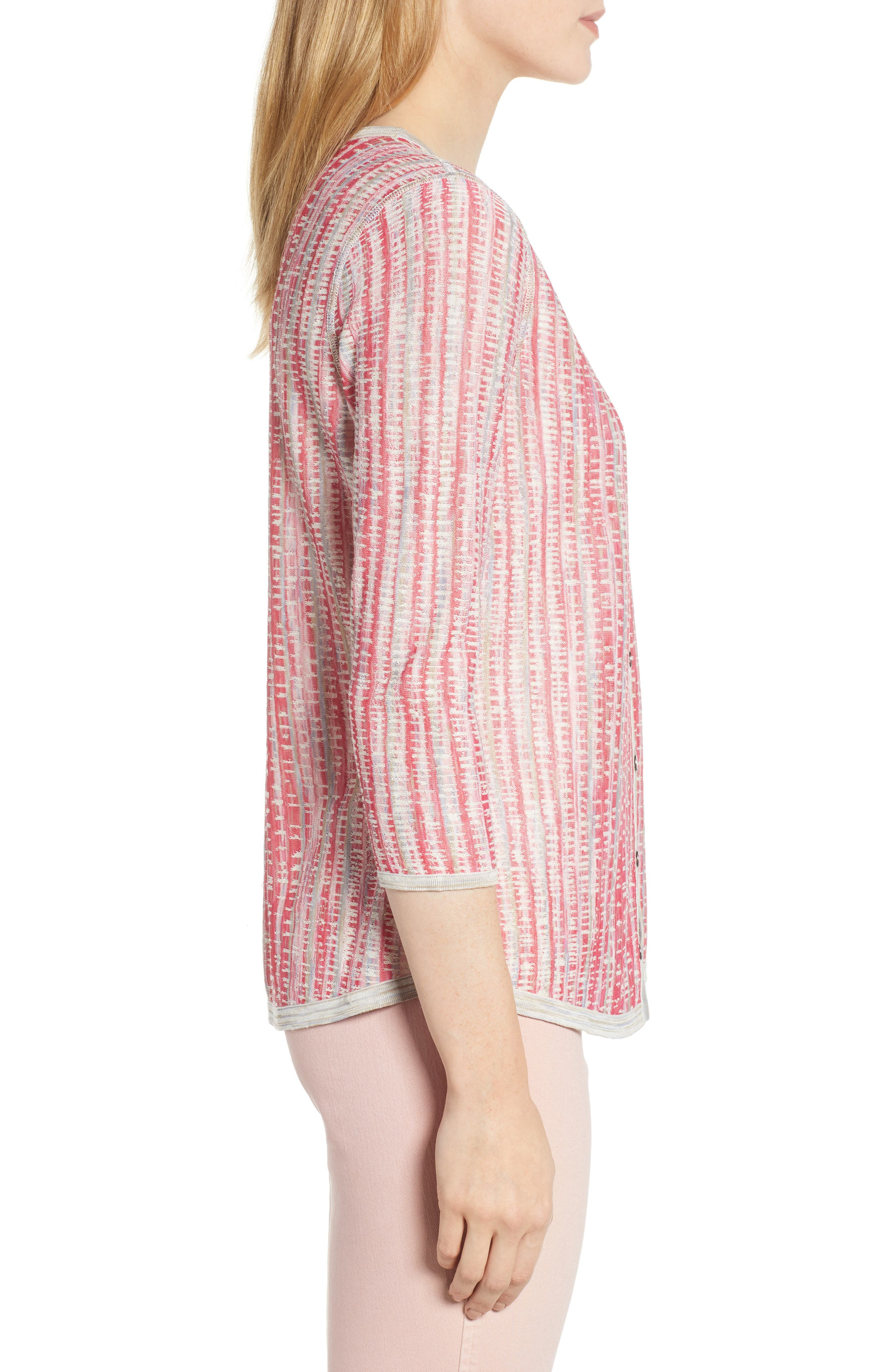 NIC+ZOE, Tubular Sunset Cardigan, Alternate thumbnail 4, color, MULTI