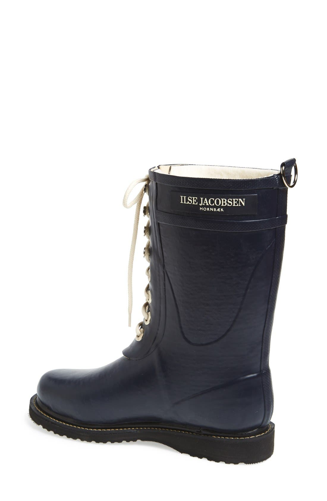 ILSE JACOBSEN, Rubber Waterproof Boot, Alternate thumbnail 2, color, DARK INDIGO