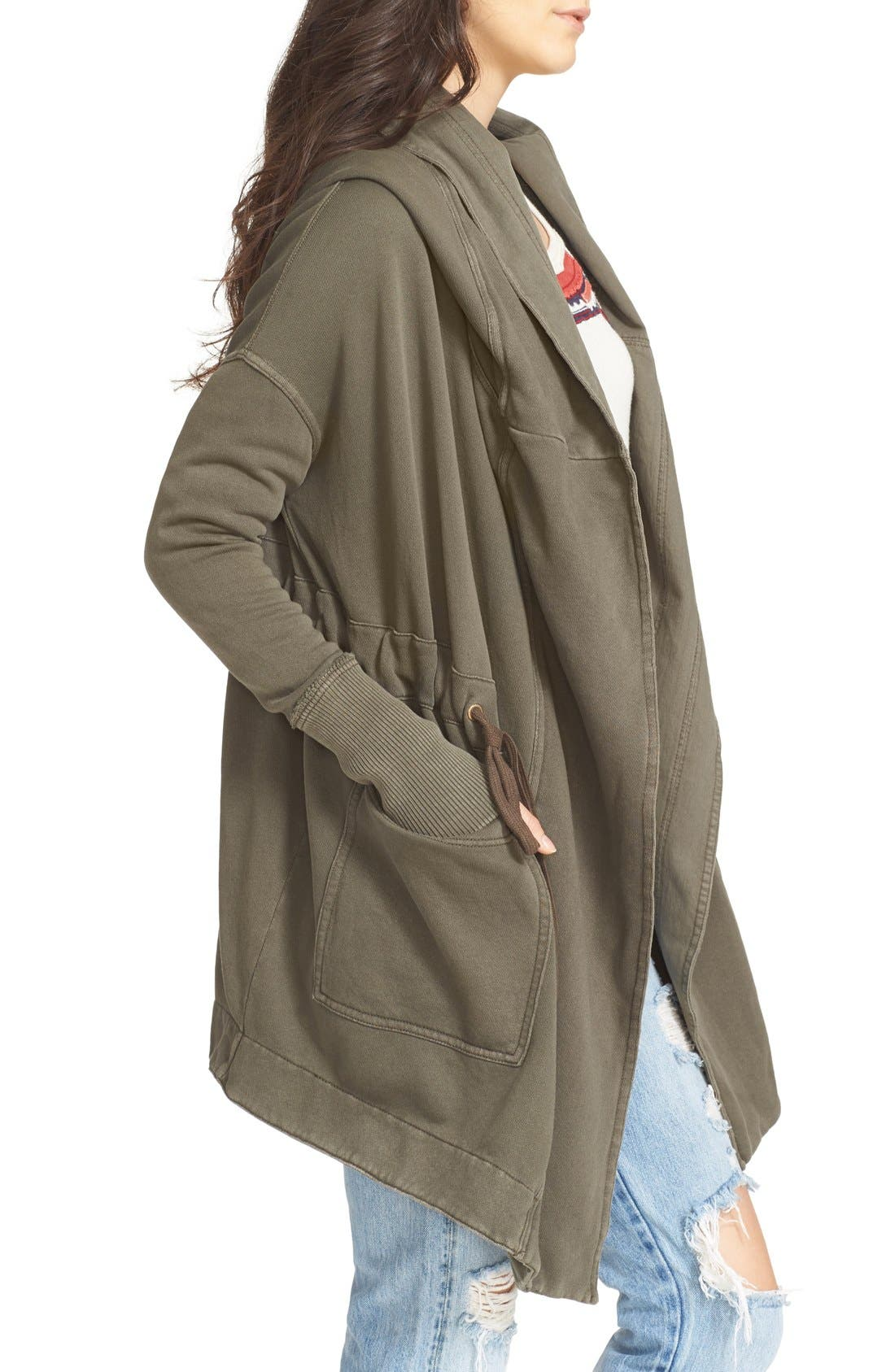 FREE PEOPLE, Brentwood Cotton Cardigan, Alternate thumbnail 6, color, 350