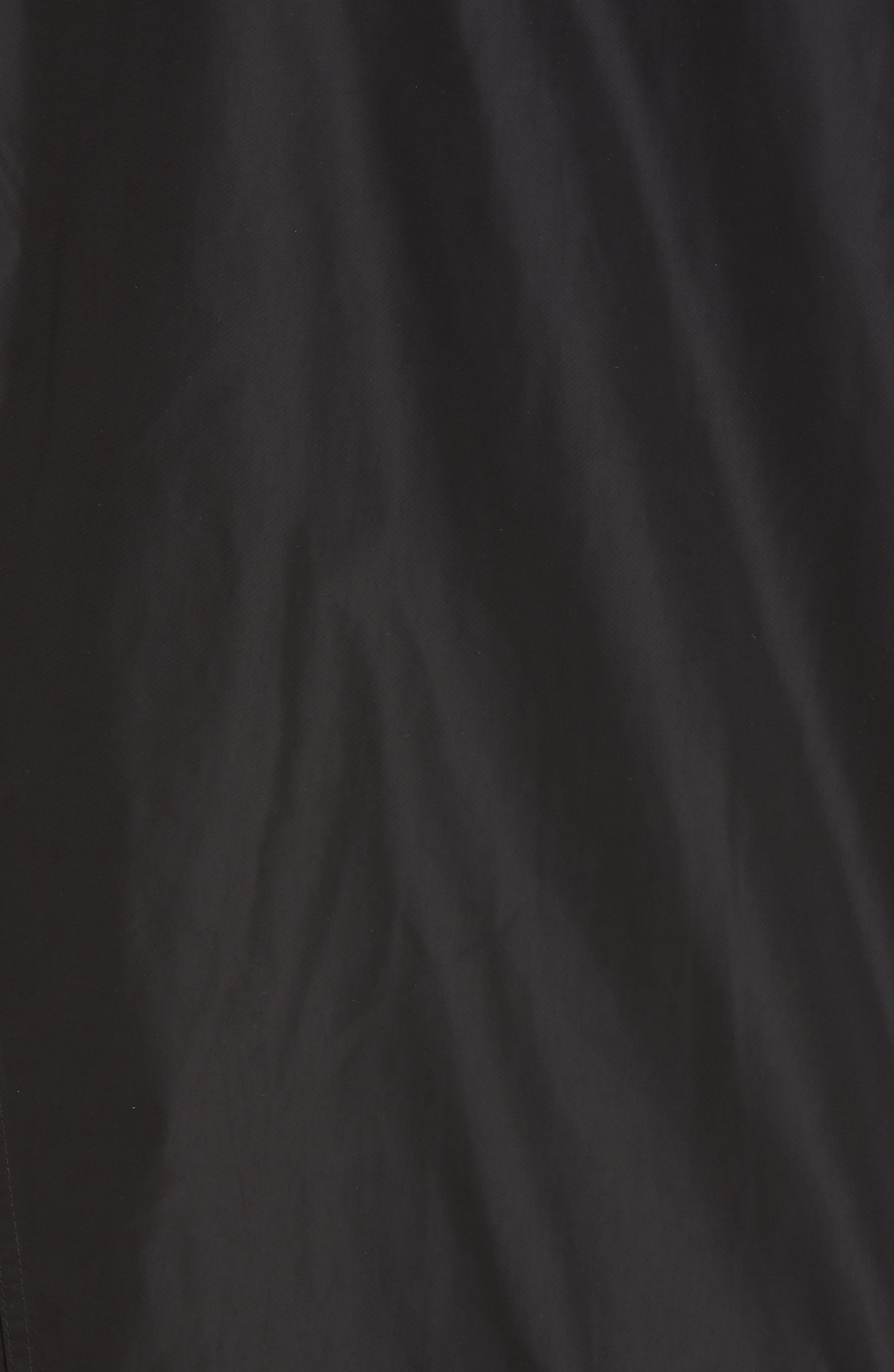 BURBERRY, Kway Millport Logo Print Waterproof Taffeta Jacket, Alternate thumbnail 7, color, BLACK