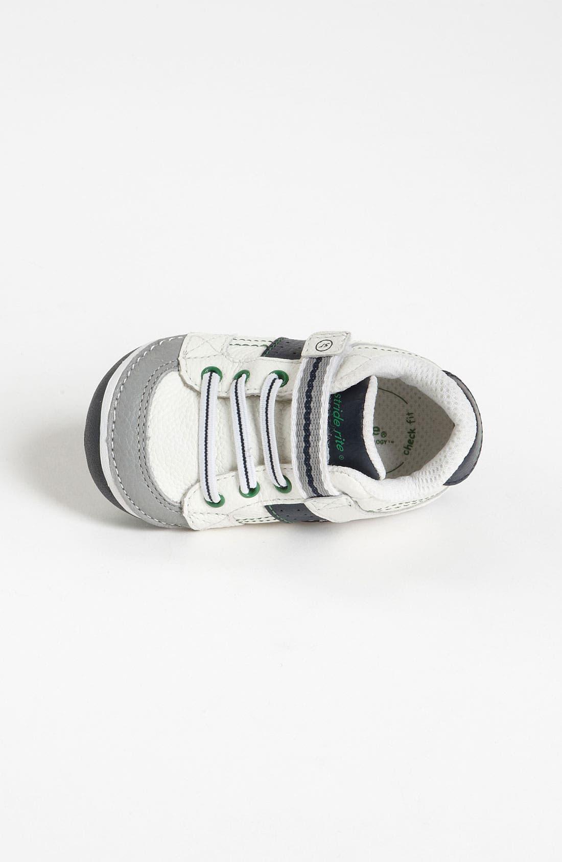 STRIDE RITE, 'Arte' Sneaker, Alternate thumbnail 8, color, WHITE/ NAVY