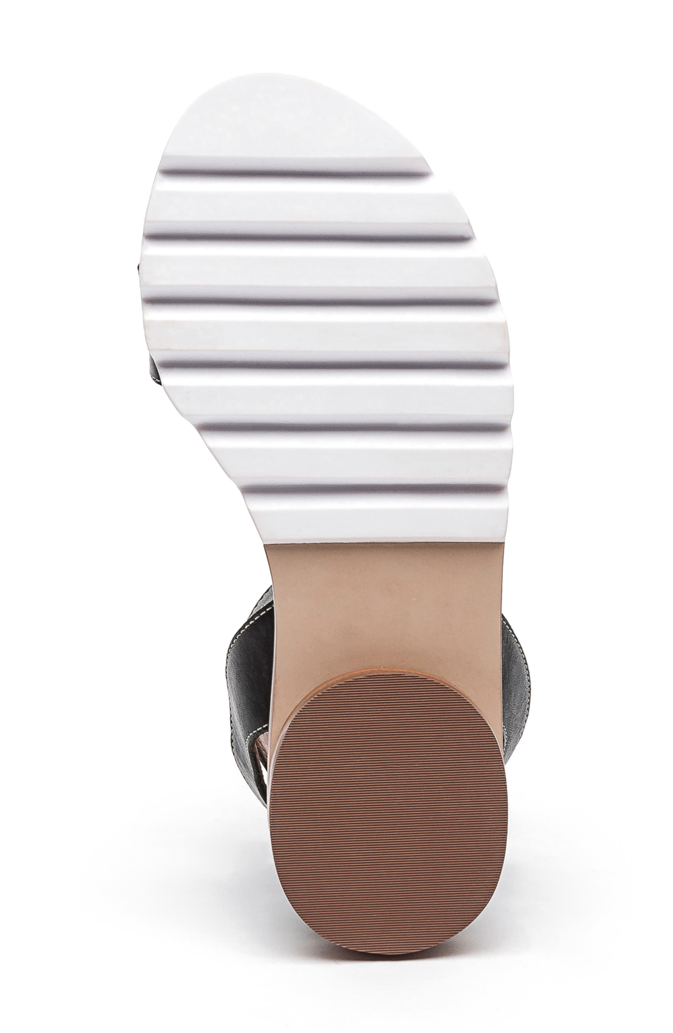 BERNARDO, Footwear Alexis Ankle Strap Sandal, Alternate thumbnail 6, color, BLACK
