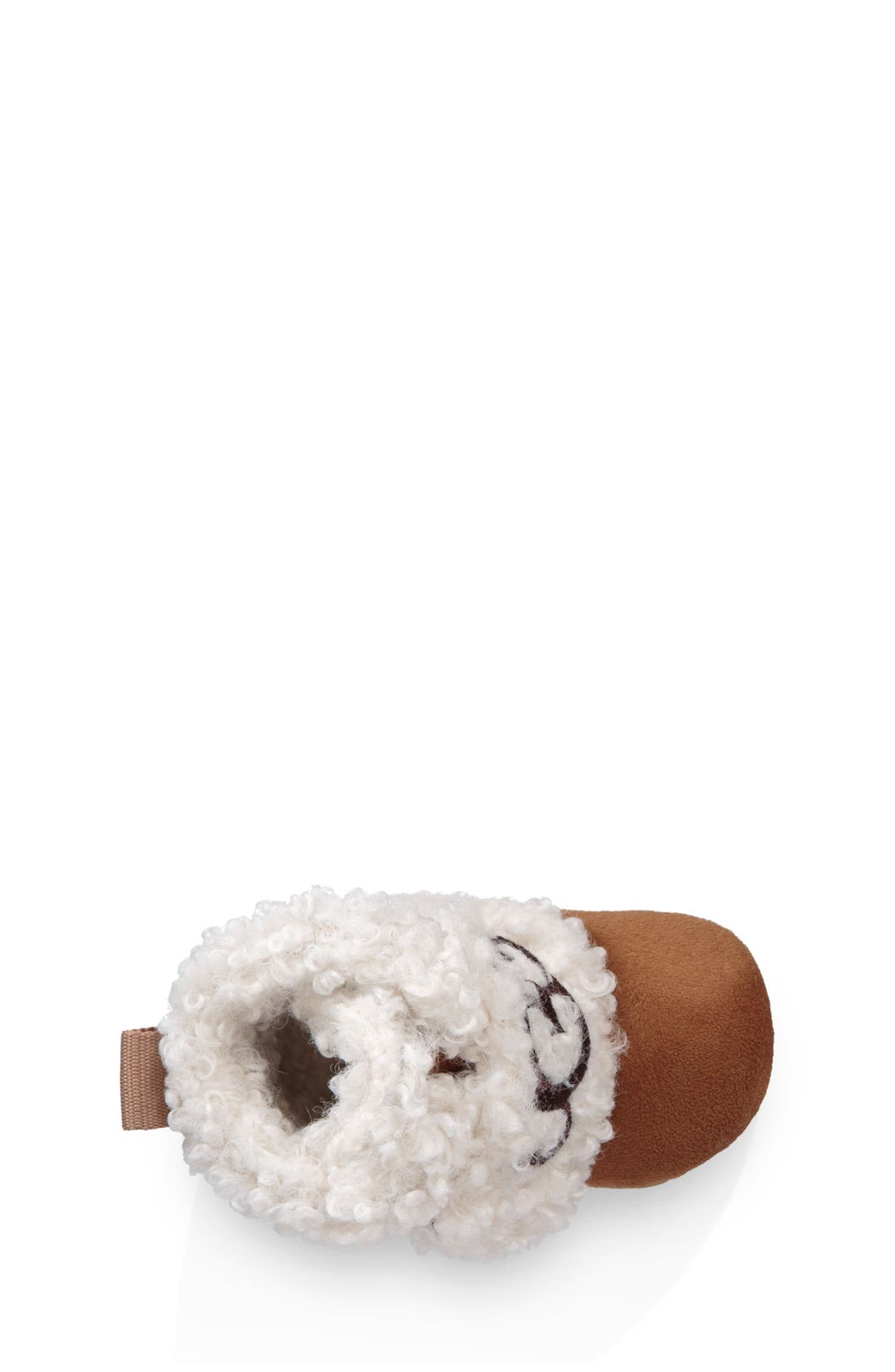UGG<SUP>®</SUP>, Mini Faux Shearling Bootie, Alternate thumbnail 3, color, CHESTNUT