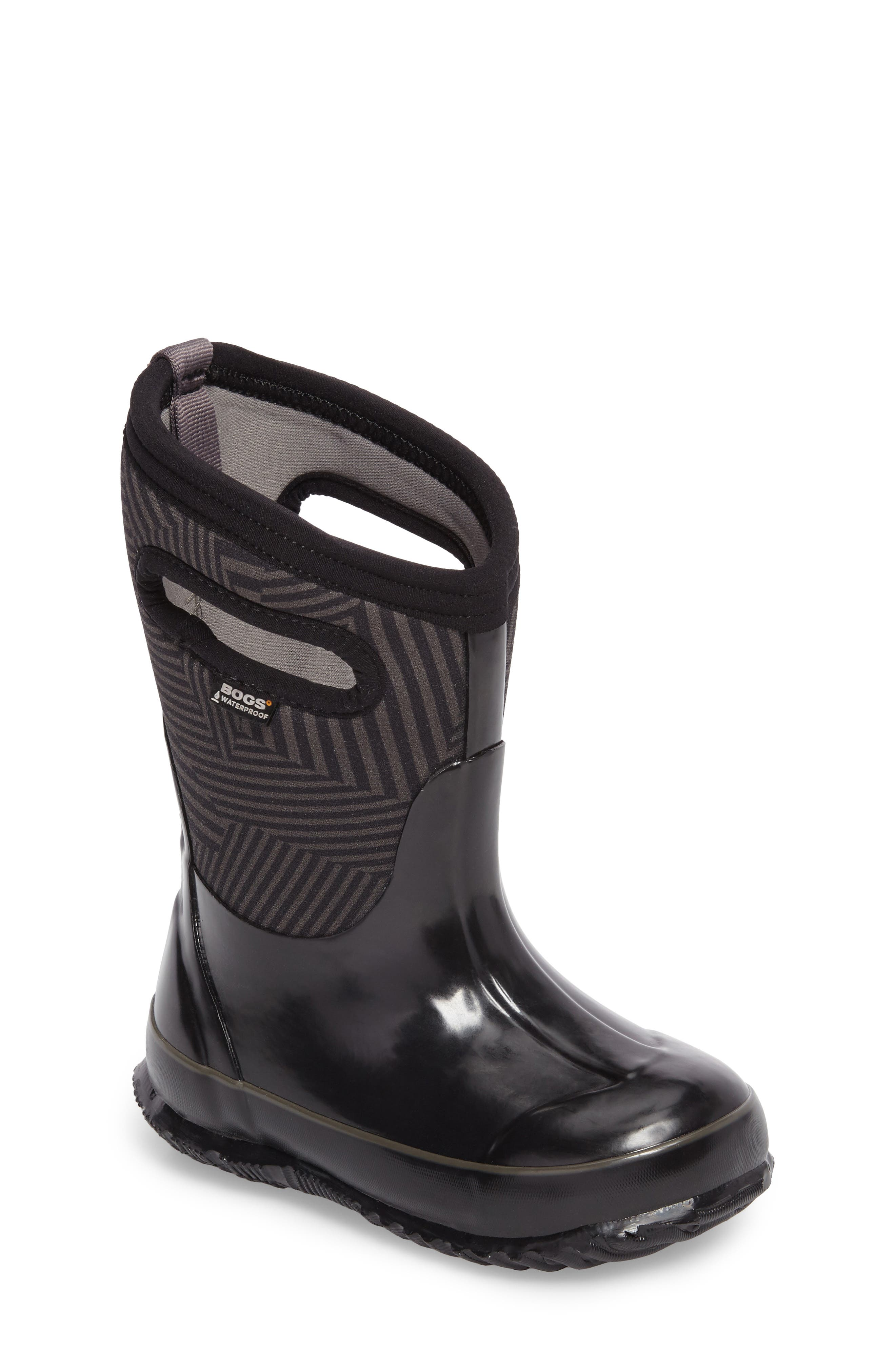 BOGS Classic Phaser Insulated Waterproof Boot, Main, color, BLACK MULTI