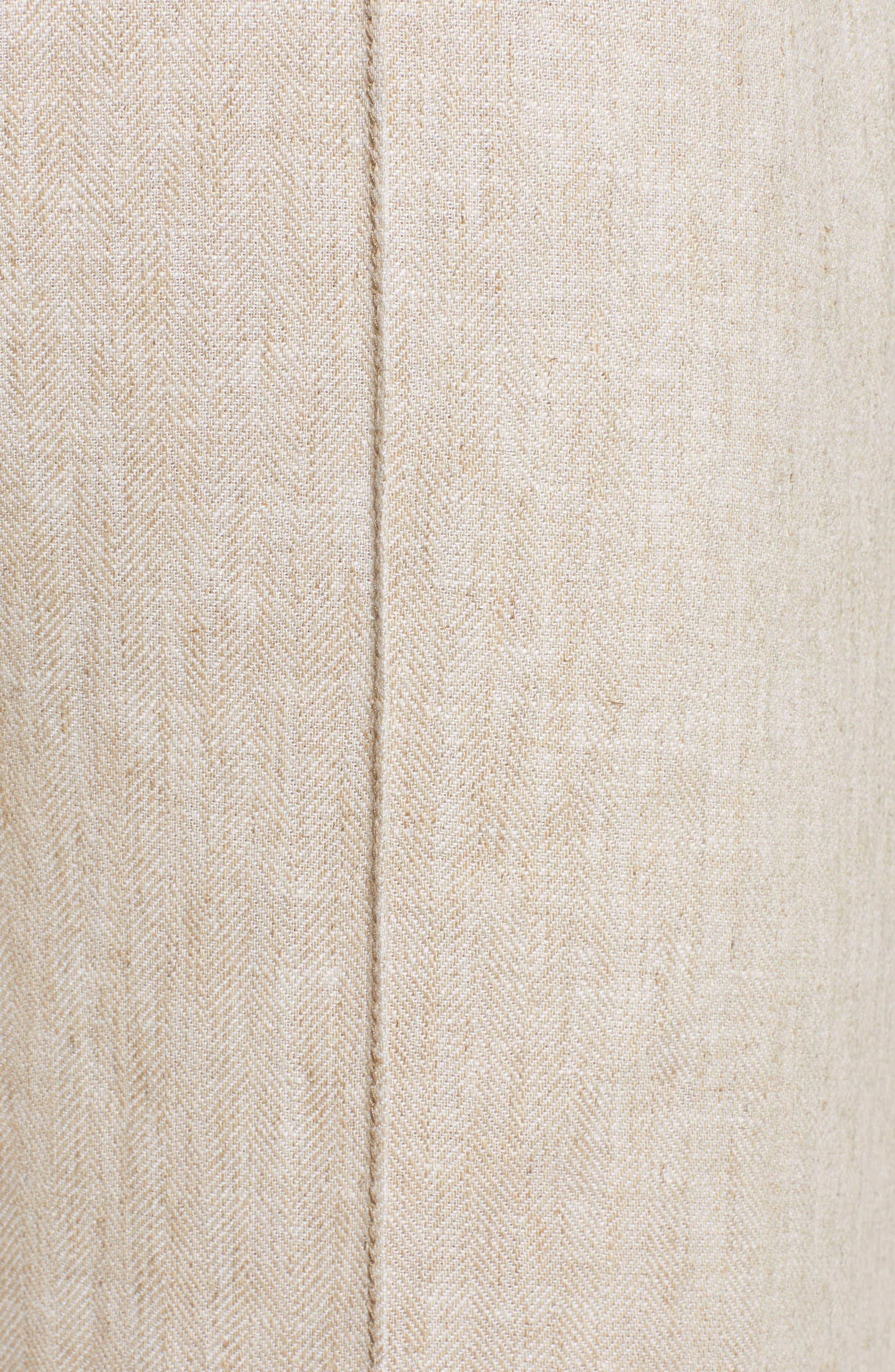 CHRISELLE LIM COLLECTION, Chriselle Lim Toulouse Wide Leg Crop Trousers, Alternate thumbnail 6, color, OATMEAL