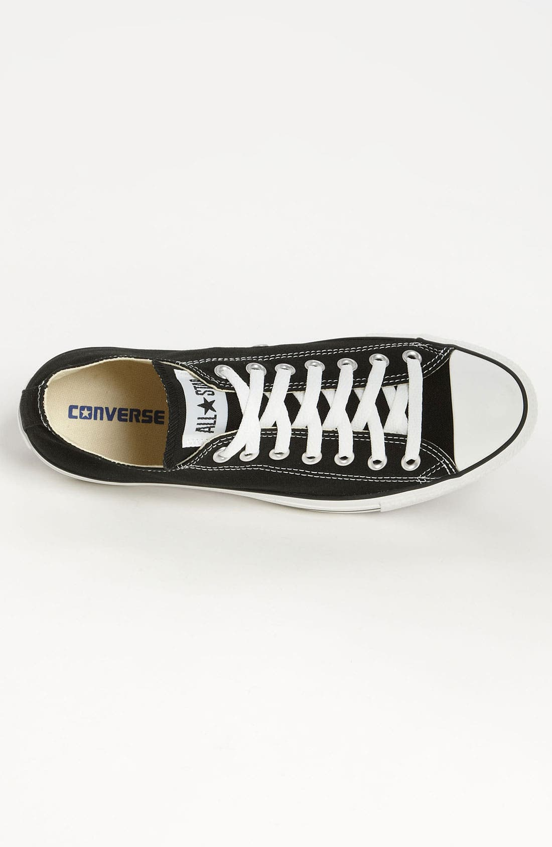 CONVERSE, Chuck Taylor<sup>®</sup> Low Sneaker, Alternate thumbnail 8, color, BLACK